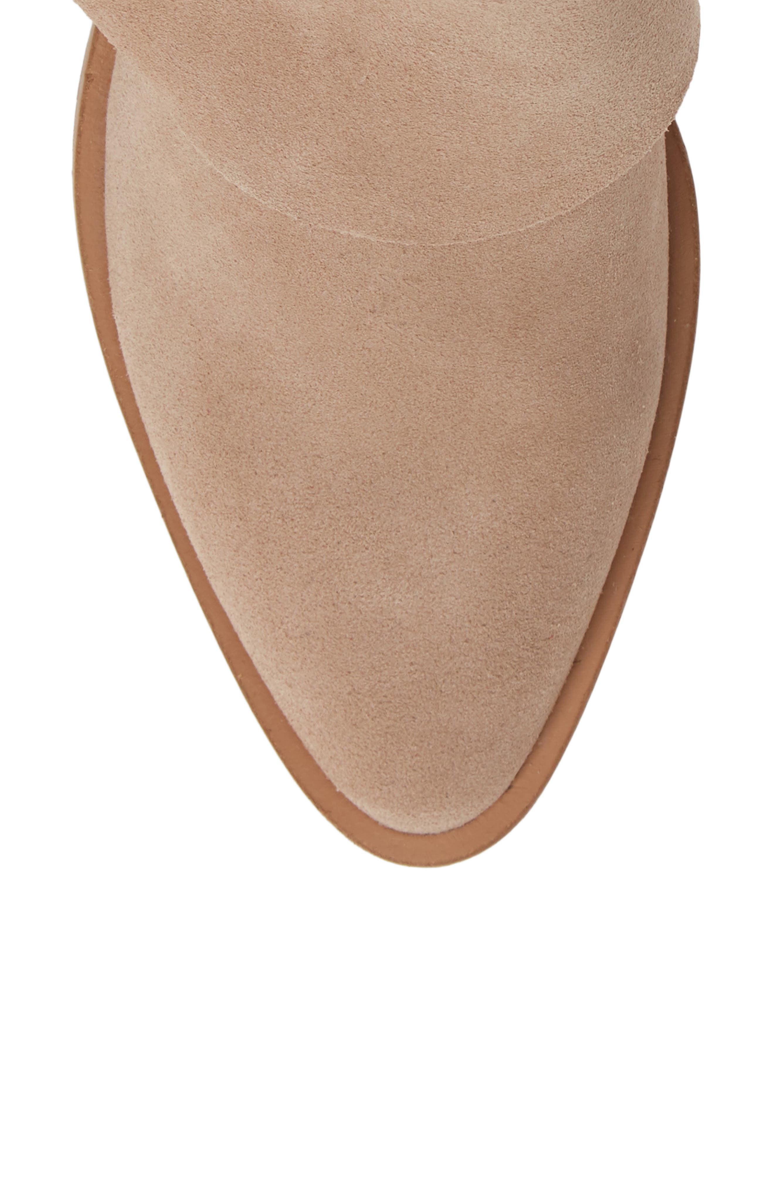 Natalyia Bootie,                             Alternate thumbnail 5, color,                             WARM TAUPE SUEDE