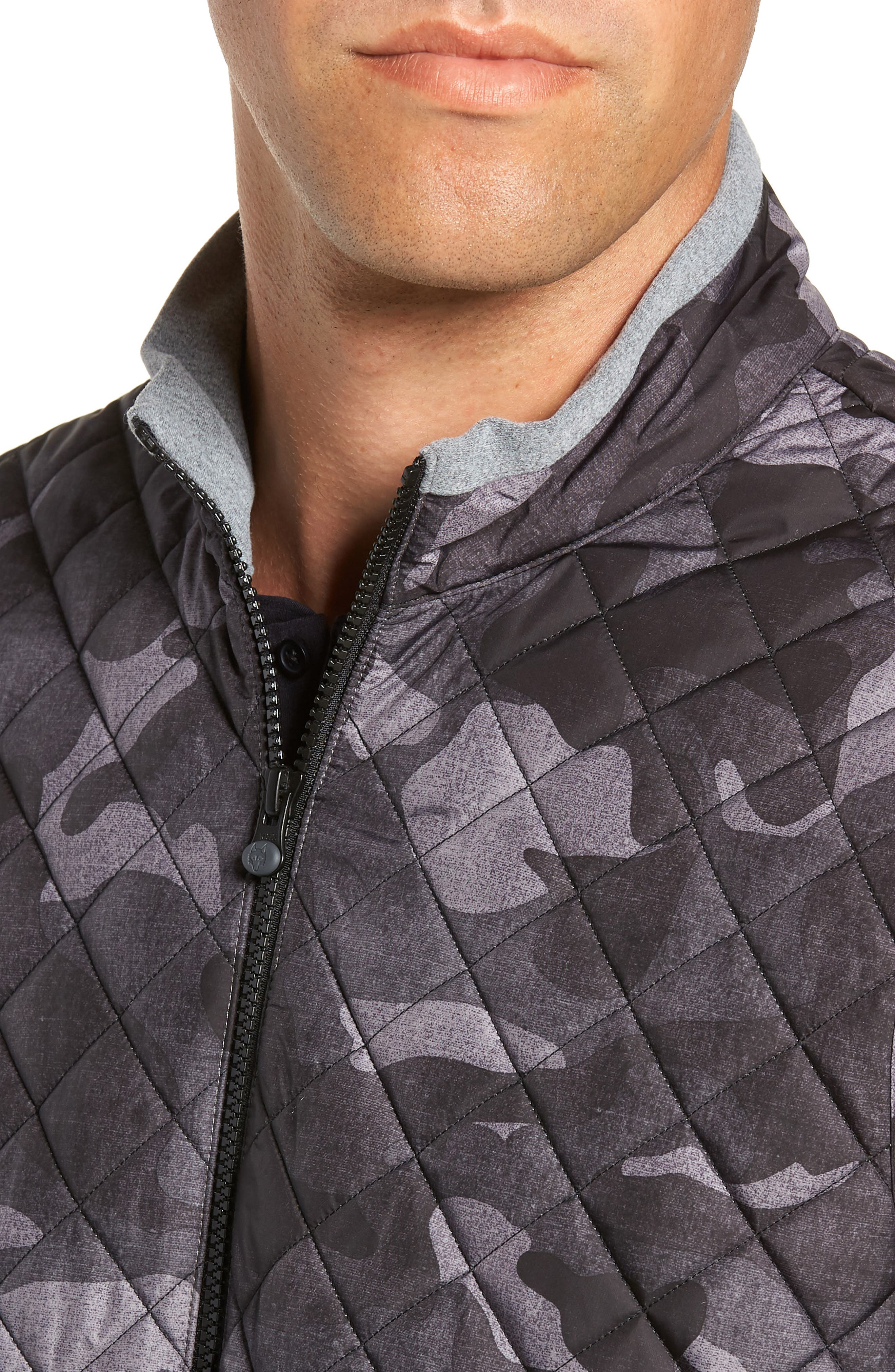 Huron Hybrid Vest,                             Alternate thumbnail 4, color,                             GREY HEATHER/ GREY CAMO