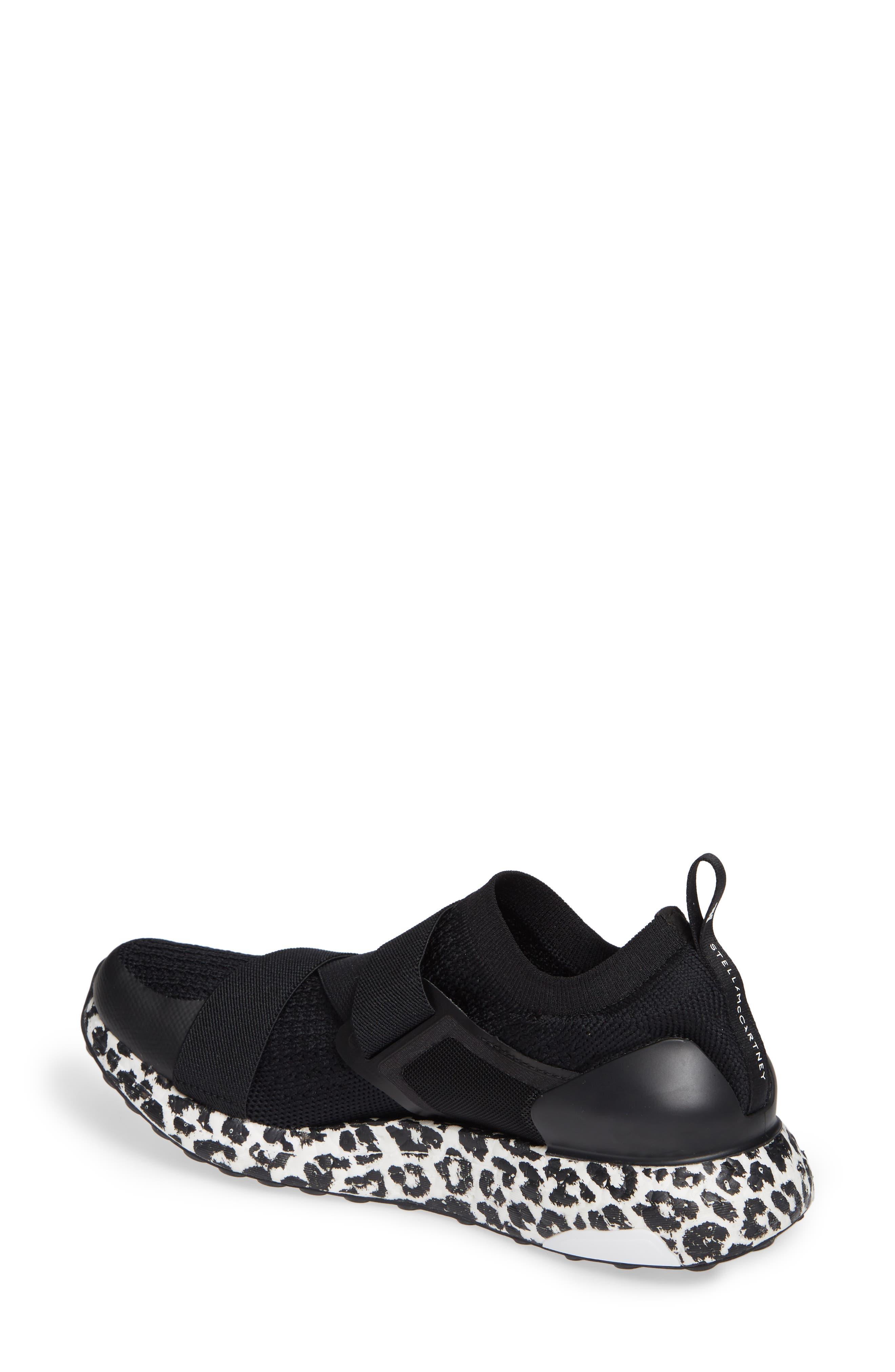 UltraBoost X Running Shoe,                             Alternate thumbnail 2, color,                             BLACK/ BLACK/ WHITE