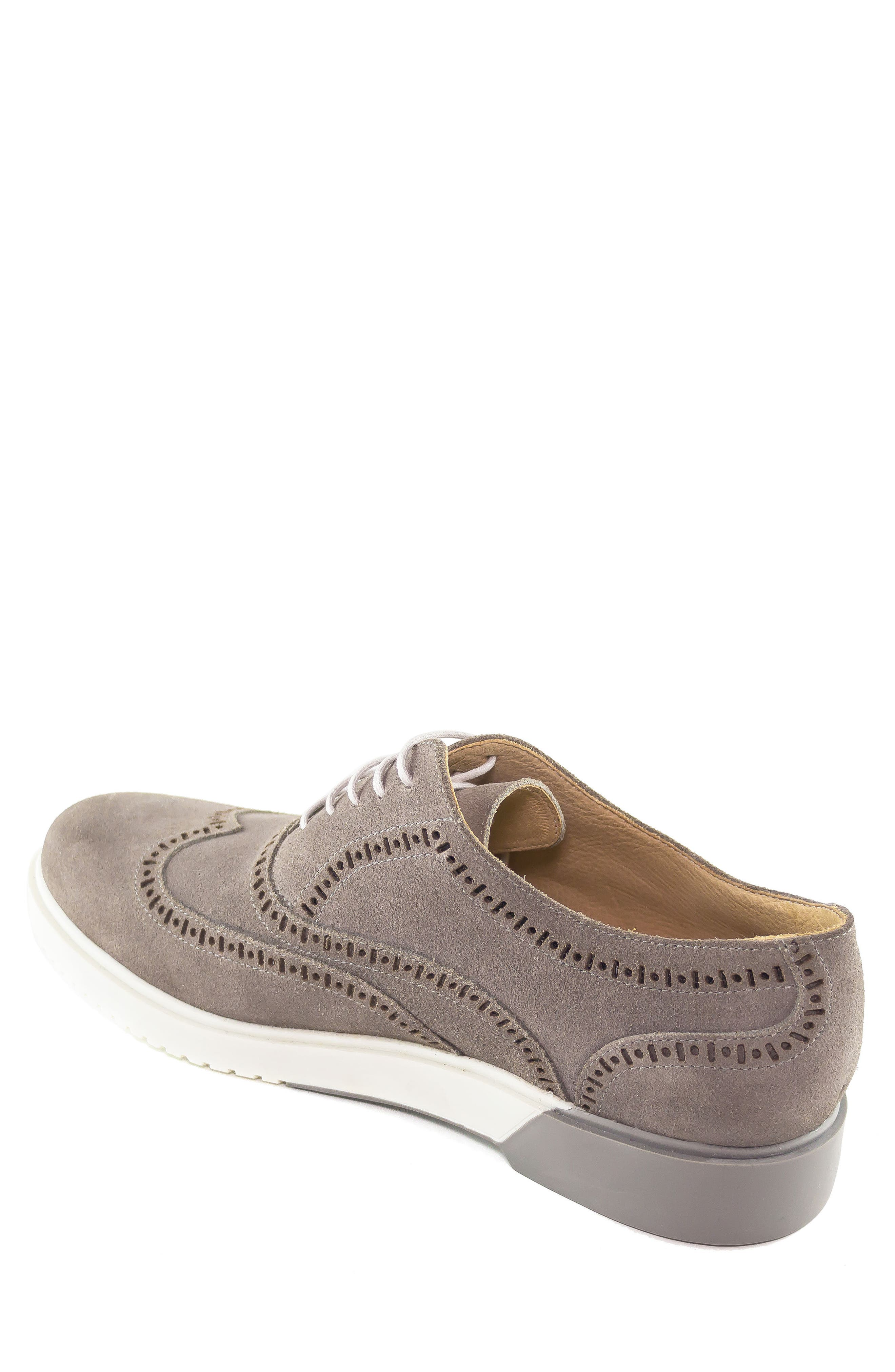 5th Ave Wingtip Sneaker,                             Alternate thumbnail 2, color,                             GREY SUEDE