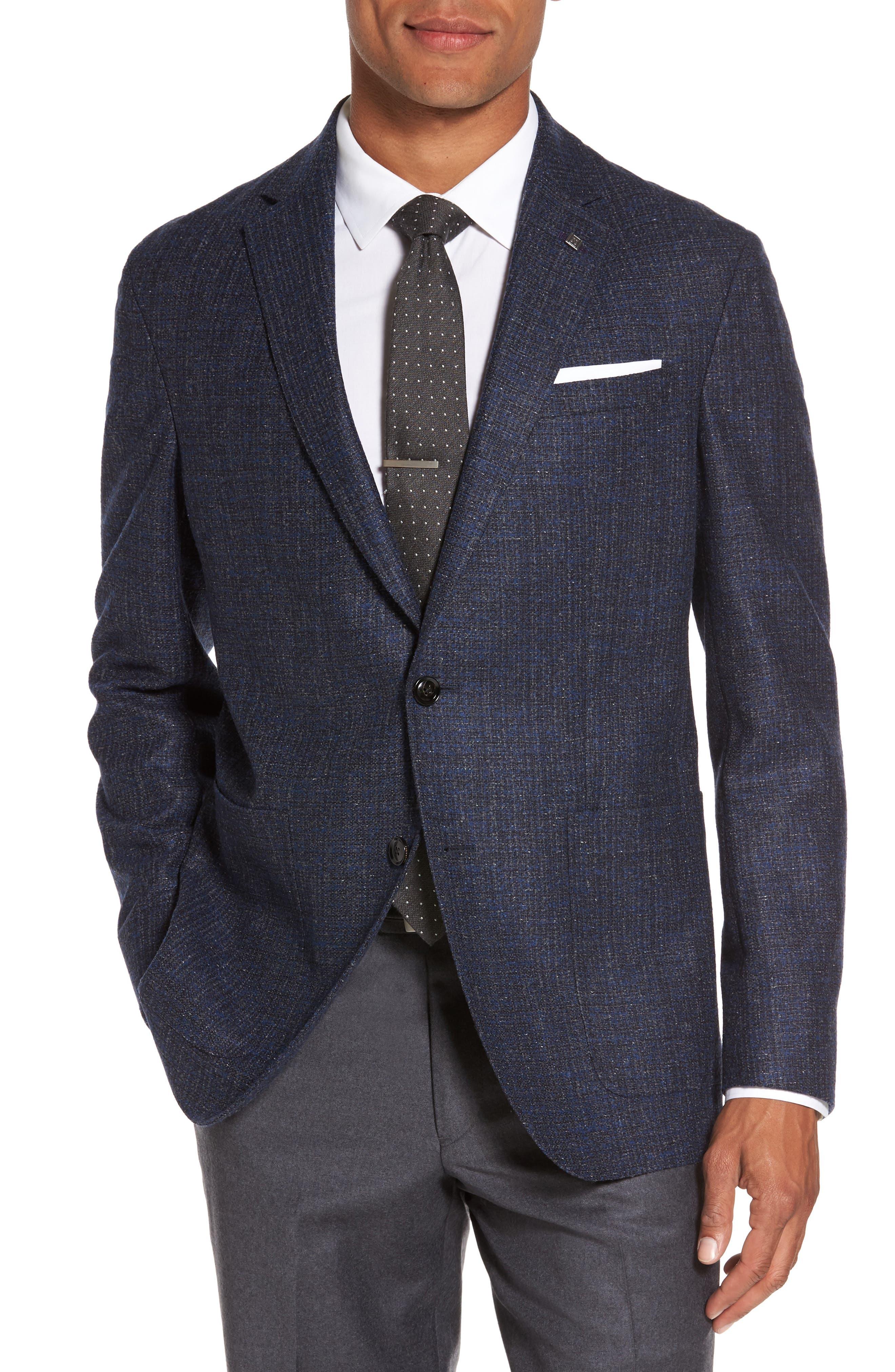 Kyle Trim Fit Wool Blend Blazer,                         Main,                         color, 400