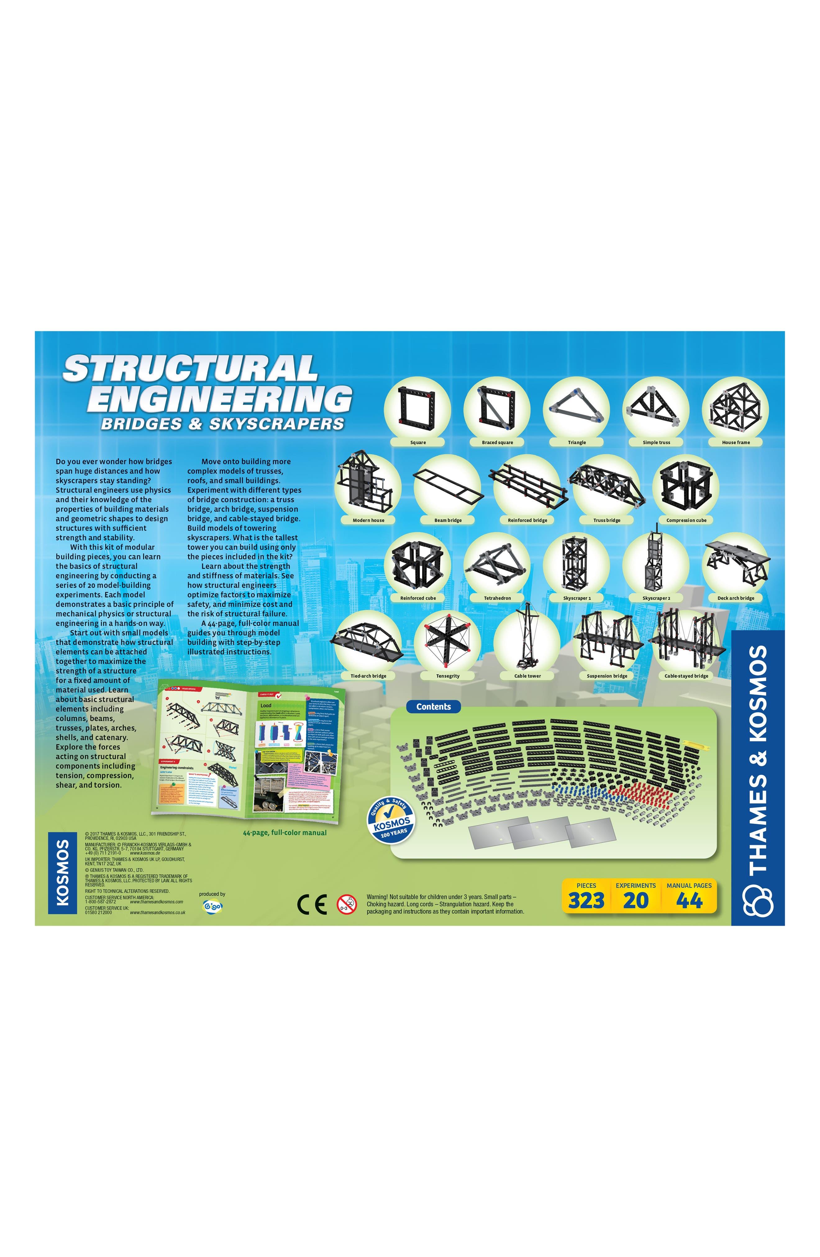 Structural Engineering 323-Piece Bridges & Skyscrapers Building Kit,                             Alternate thumbnail 2, color,                             001