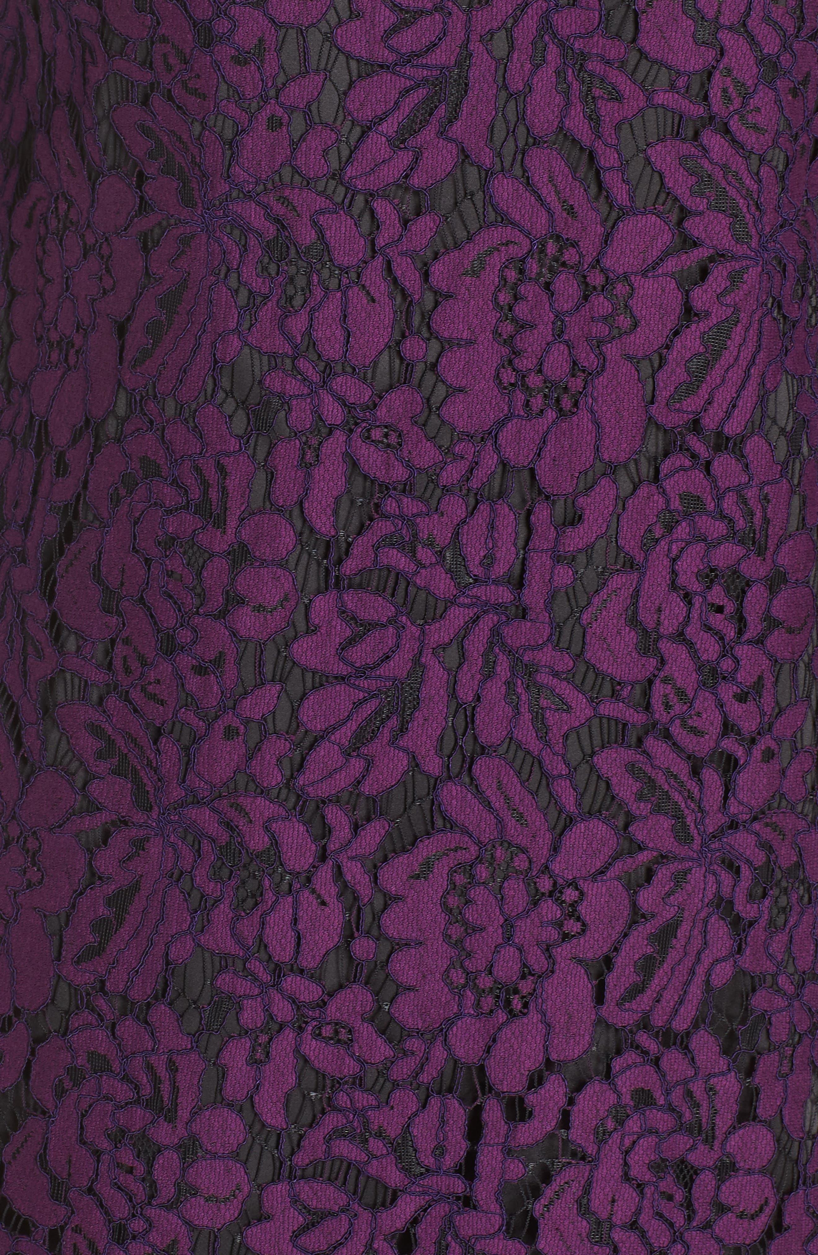 Flare Sleeve Lace Shift Dress,                             Alternate thumbnail 11, color,
