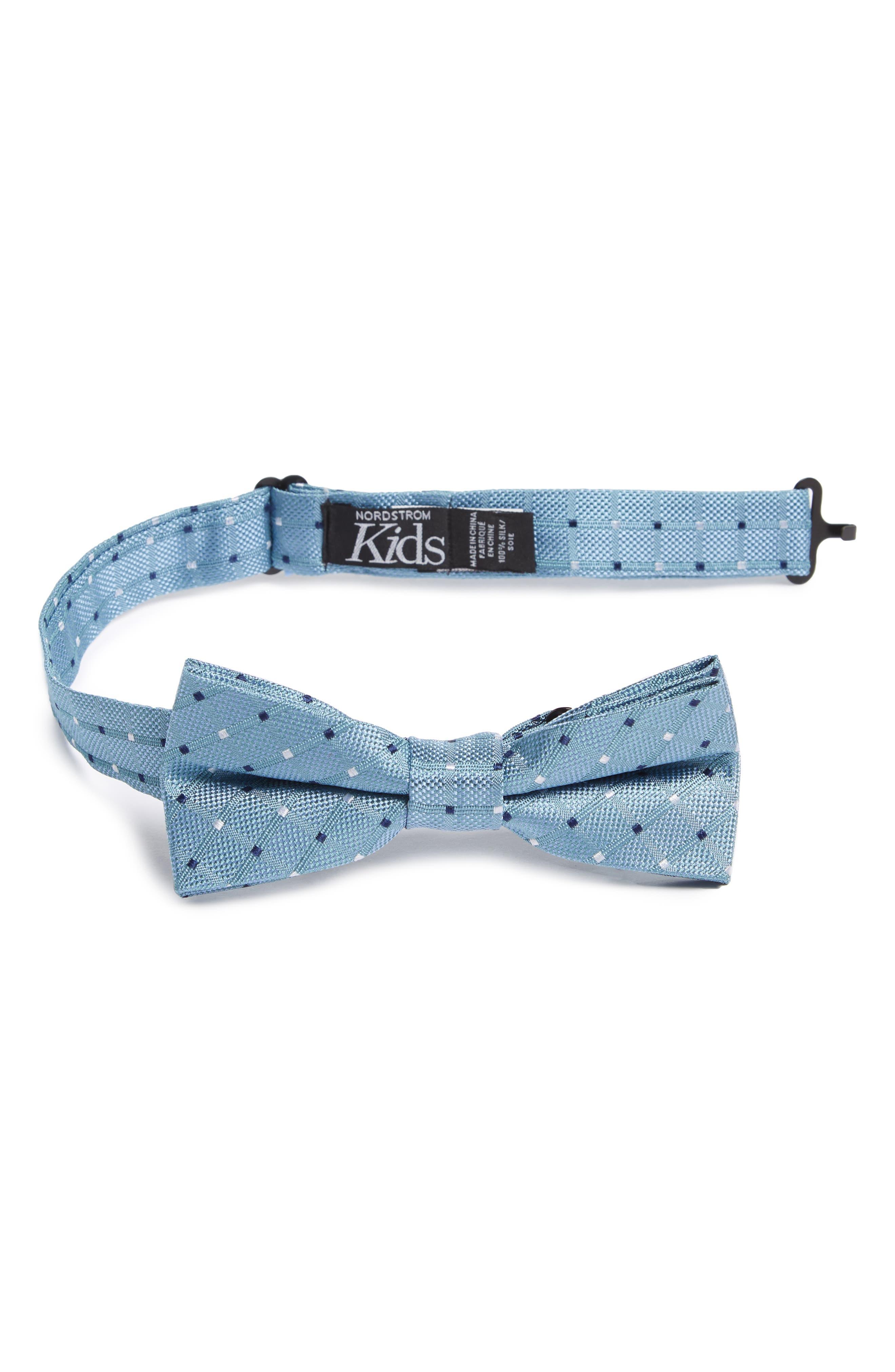 Dot Silk Bow Tie,                             Main thumbnail 1, color,                             450
