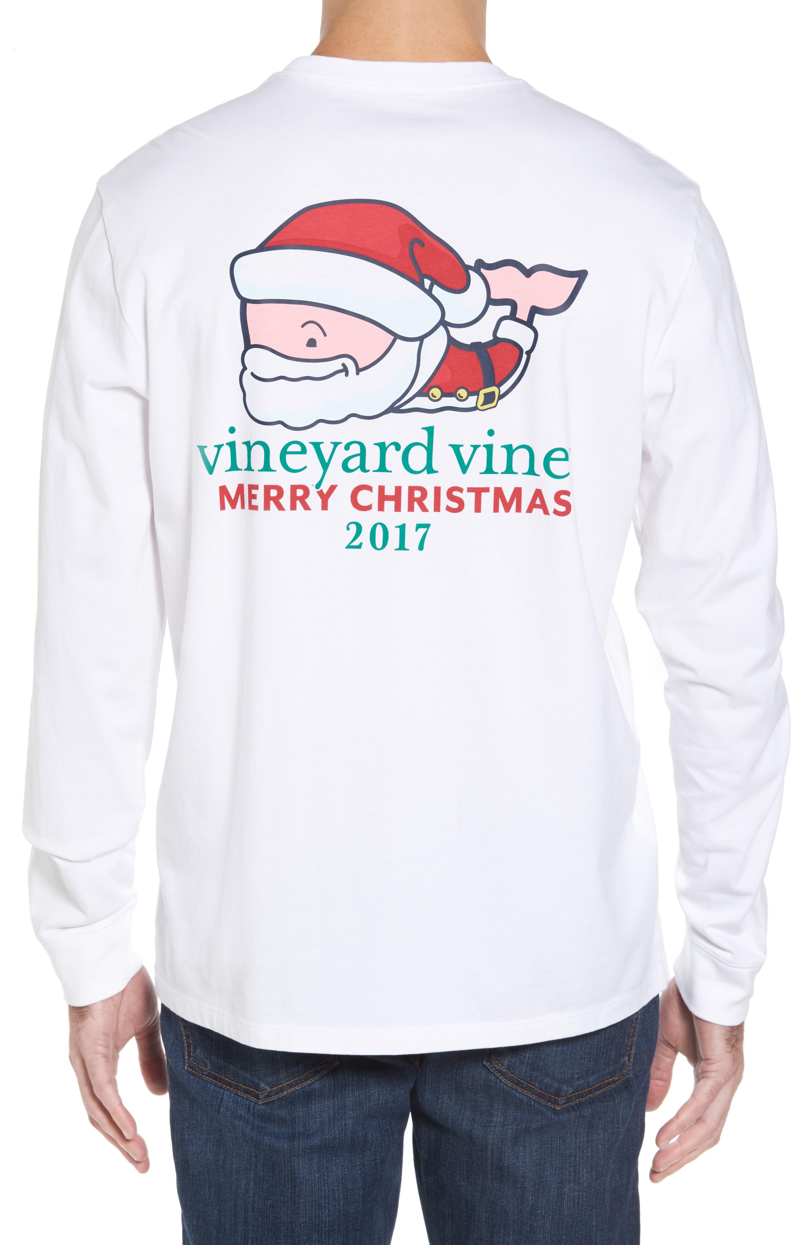 Mr. Claus Whale Graphic Pocket T-Shirt,                             Alternate thumbnail 2, color,                             100