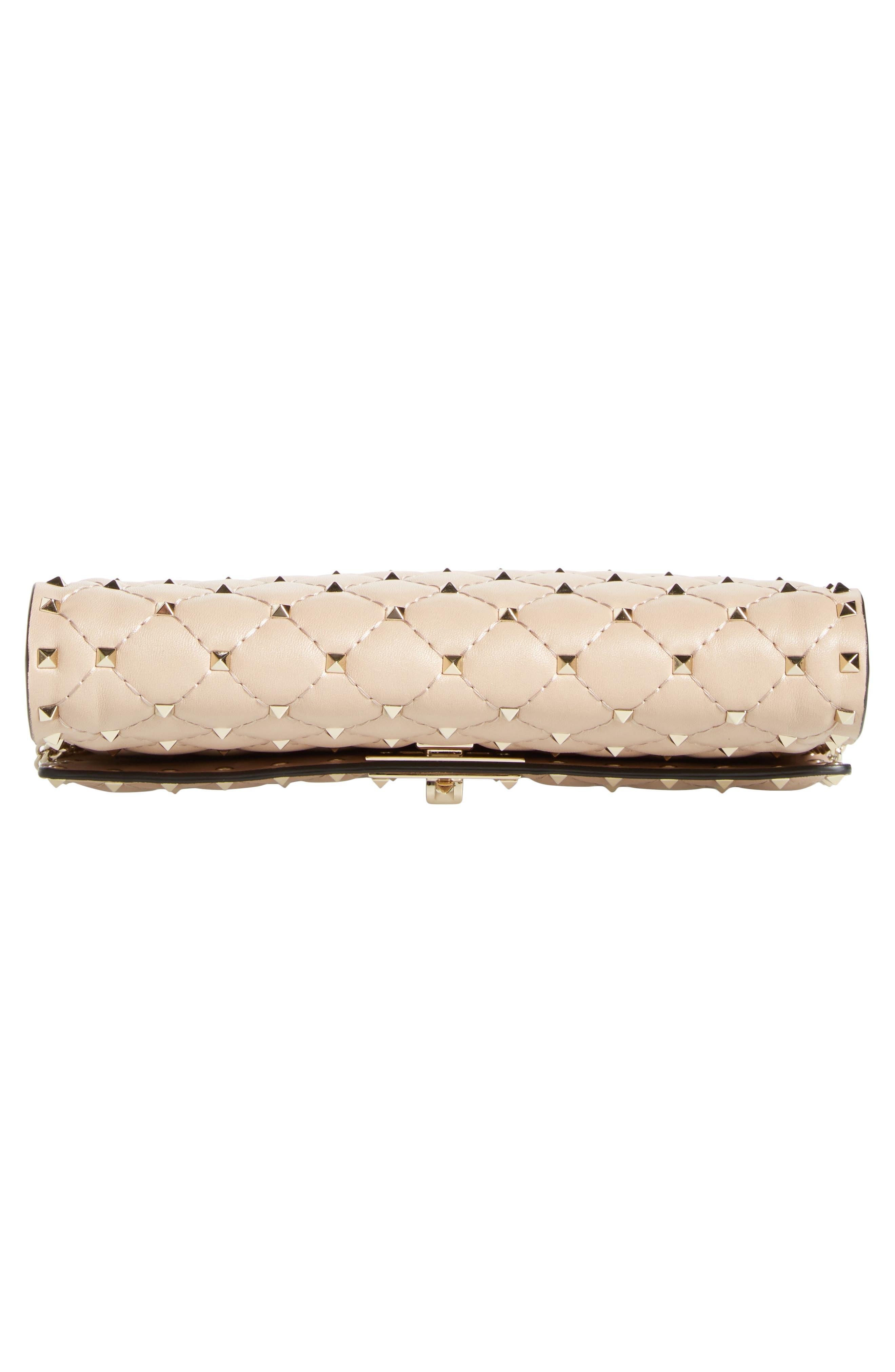 Metelassé Rockstud Spike Leather Wallet on a Chain,                             Alternate thumbnail 6, color,