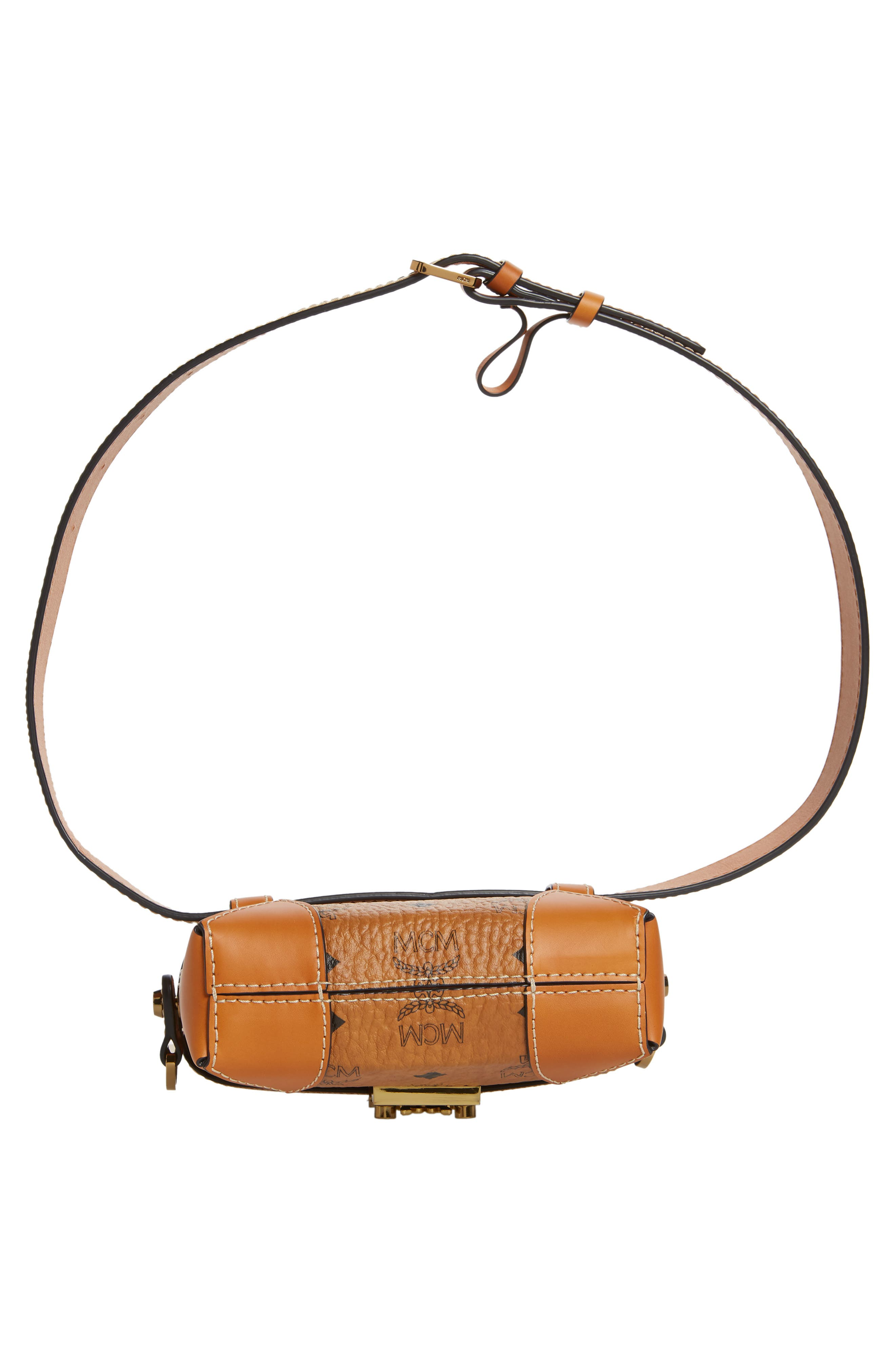 Small Berlin Canvas & Leather Belt Bag,                             Alternate thumbnail 8, color,                             200