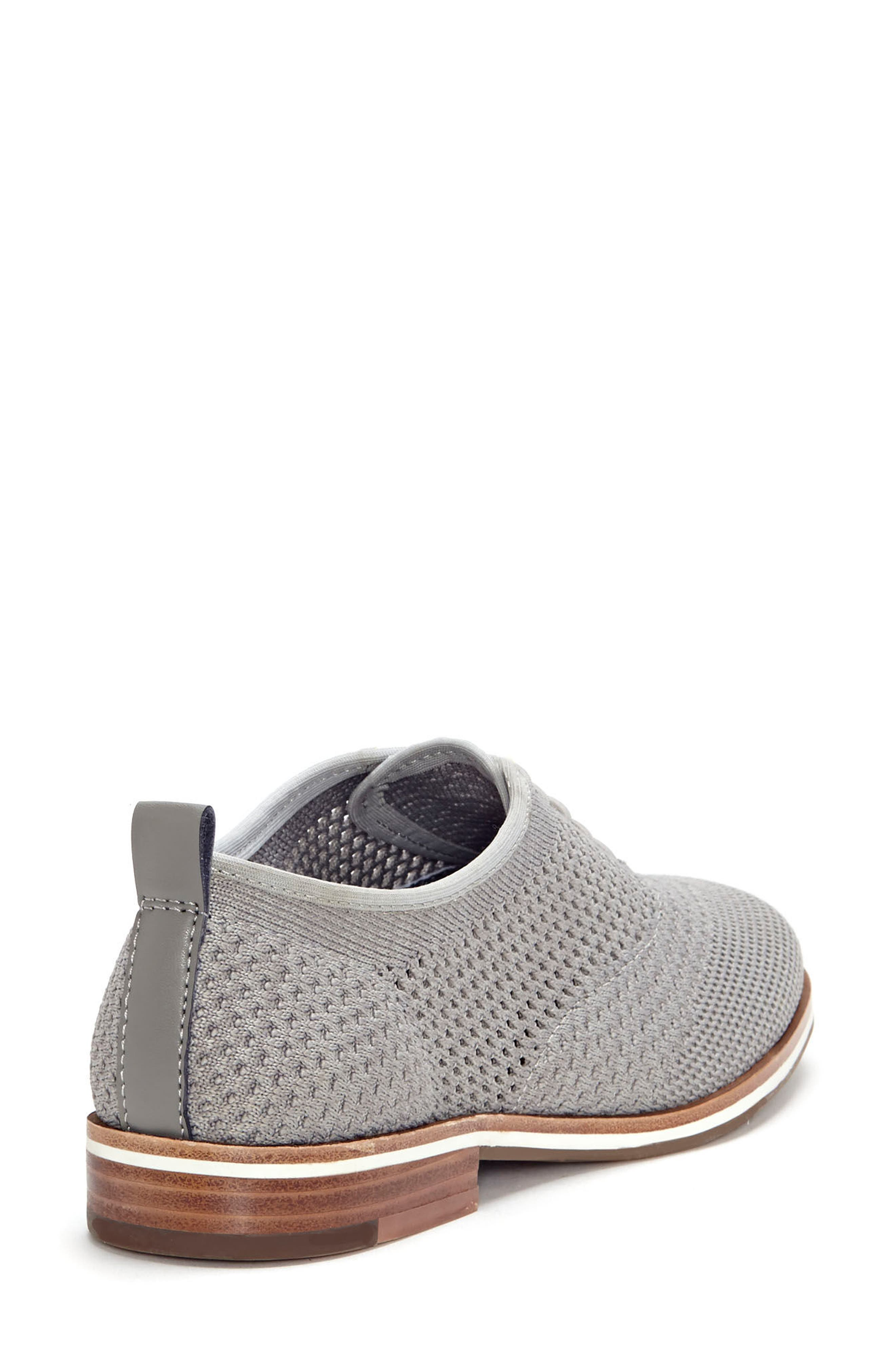Lucerne Knit Oxford,                             Alternate thumbnail 8, color,                             HEATHER GREY TEXTILE FABRIC