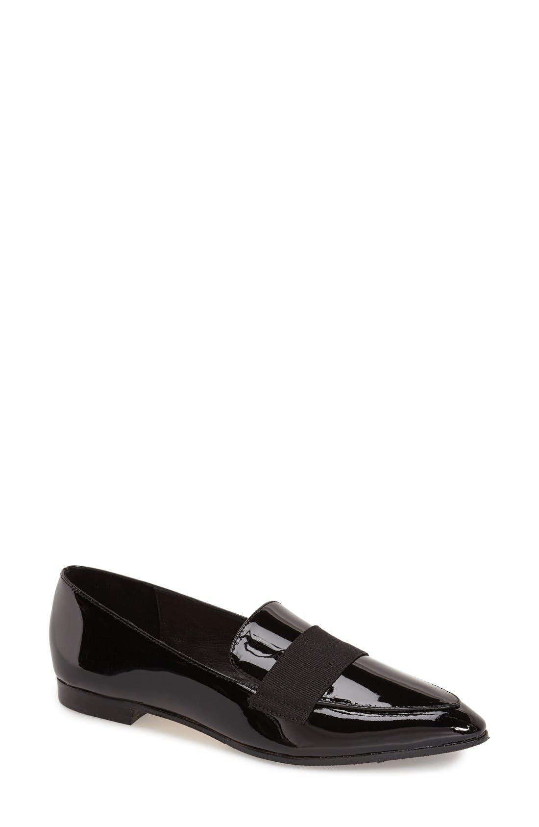 'corina' pointy toe loafer,                             Main thumbnail 1, color,                             001