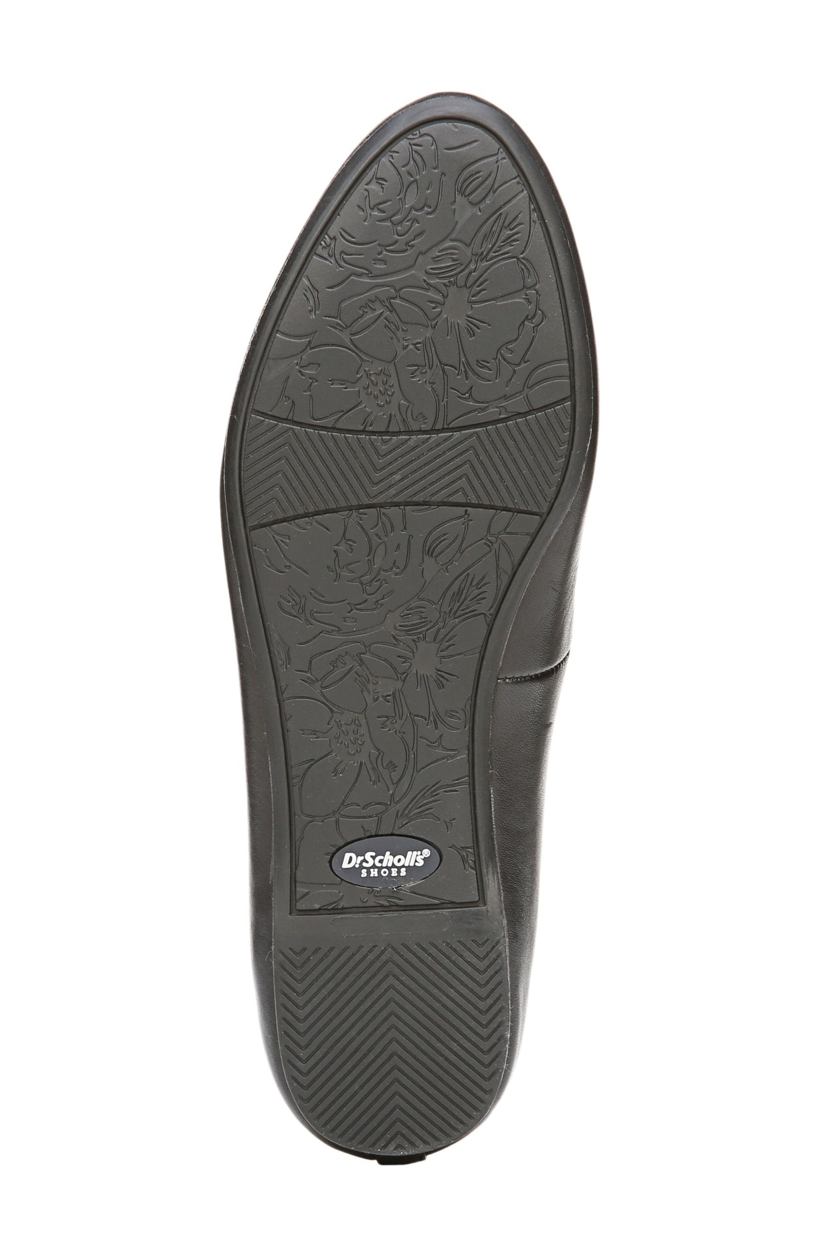 Giorgie Flat,                             Alternate thumbnail 5, color,                             BLACK LEATHER
