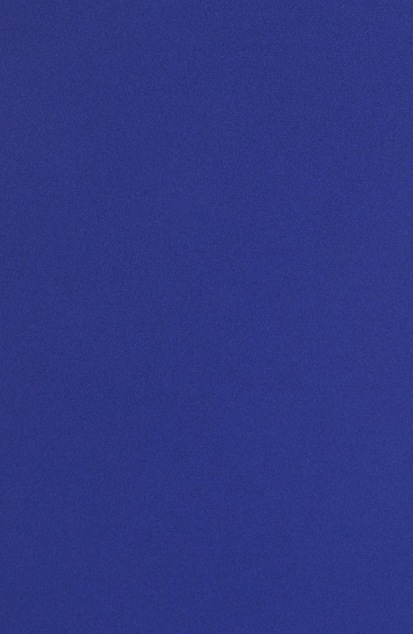 Beaded Ruffle Back Scuba Gown,                             Alternate thumbnail 5, color,