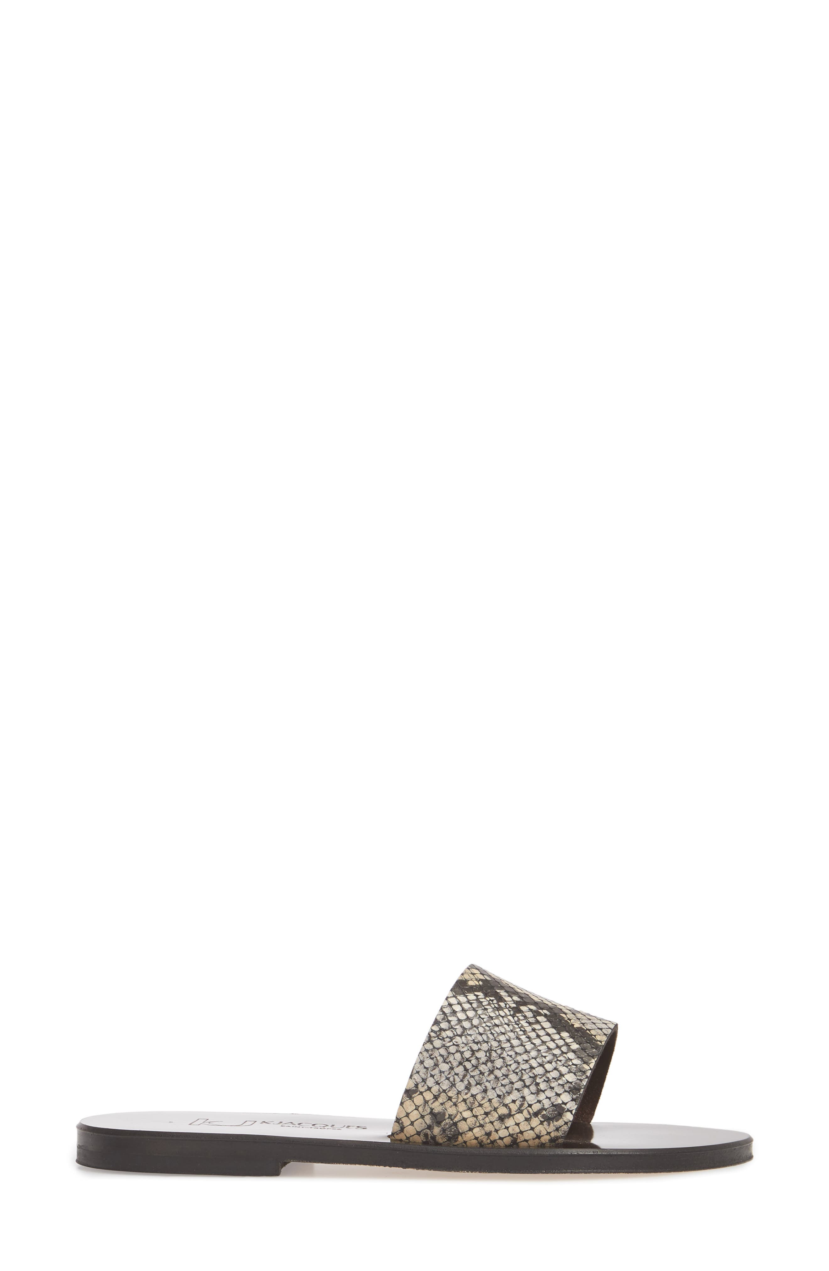 K. Jacques St. Tropez Arezzo Slide Sandal,                             Alternate thumbnail 3, color,                             001