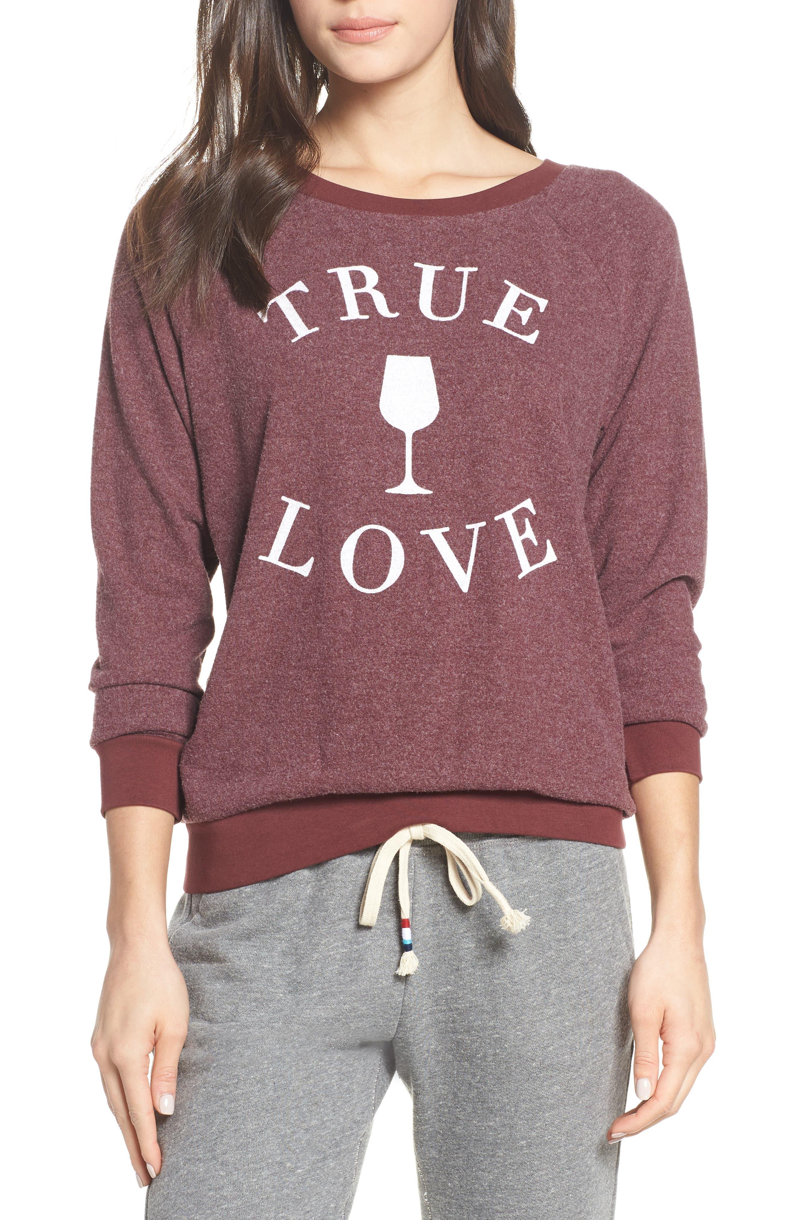 SOL ANGELES True Love Sweatshirt in Syrah