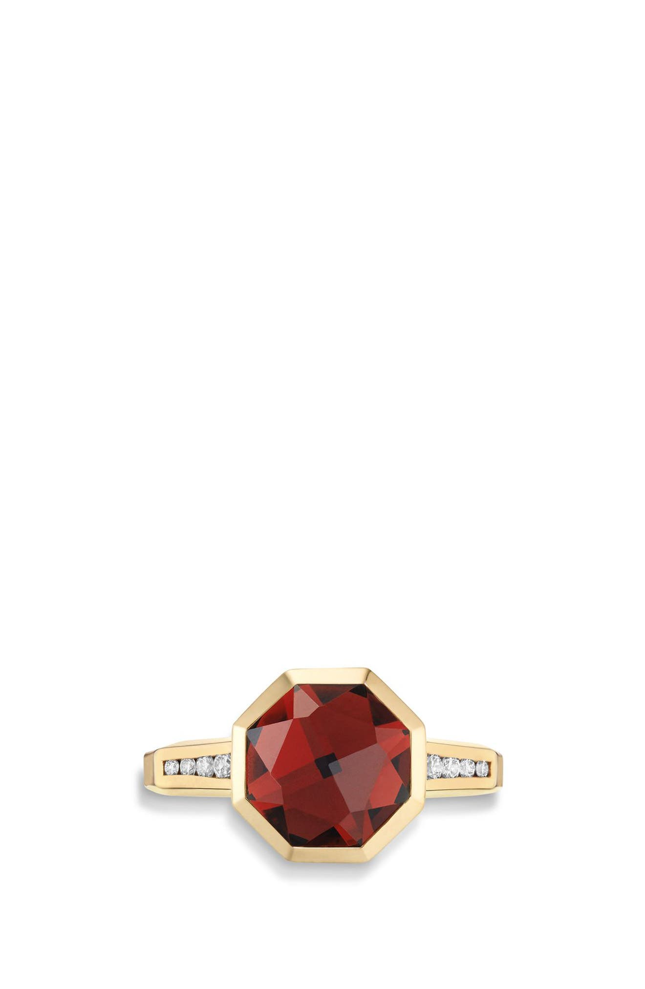 Guilin Octagon Ring with Diamonds in 18K Gold,                             Alternate thumbnail 3, color,                             YELLOW GOLD/ DIAMOND