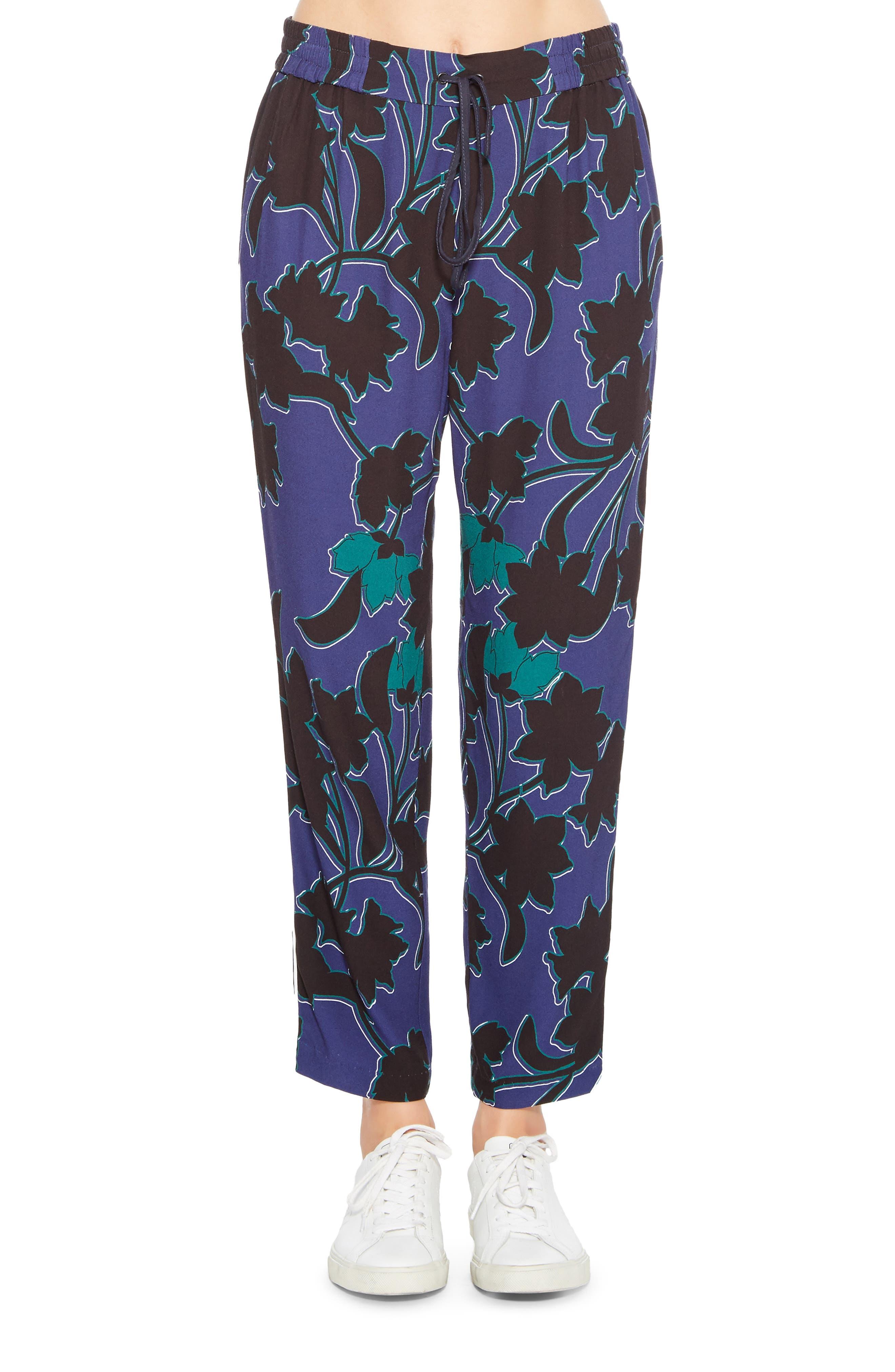 Carolyn Combo Pants,                         Main,                         color, MINI BOWERY FLORAL