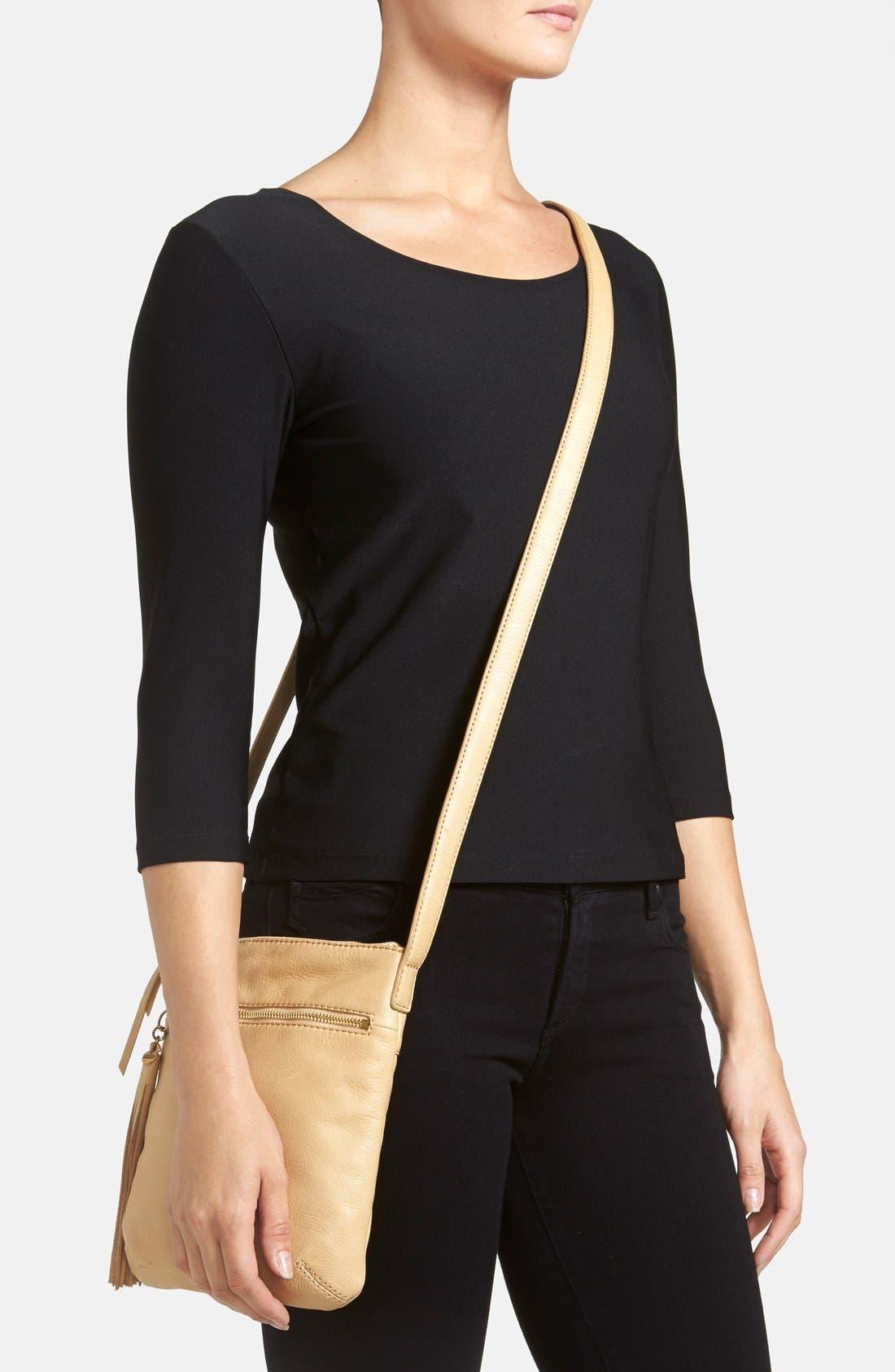 'Sarah' Leather Crossbody Bag,                             Alternate thumbnail 20, color,
