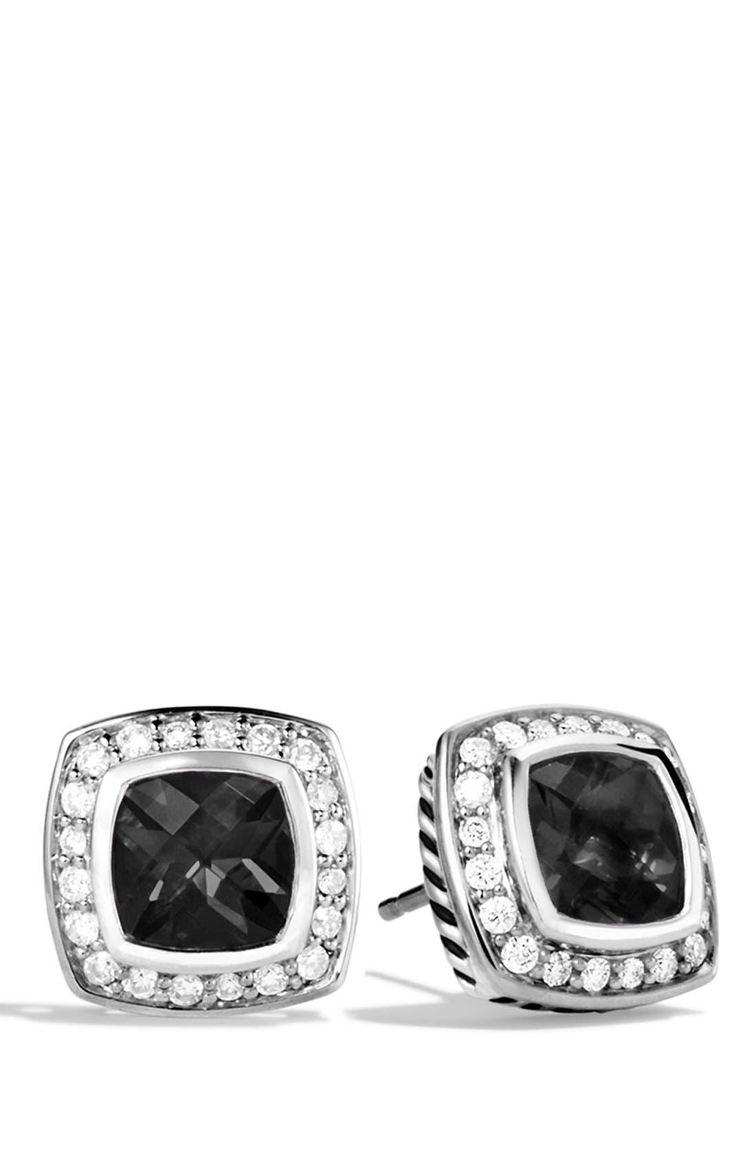 'Albion' Petite Earrings with Semiprecious Stones & Diamonds,                             Main thumbnail 2, color,