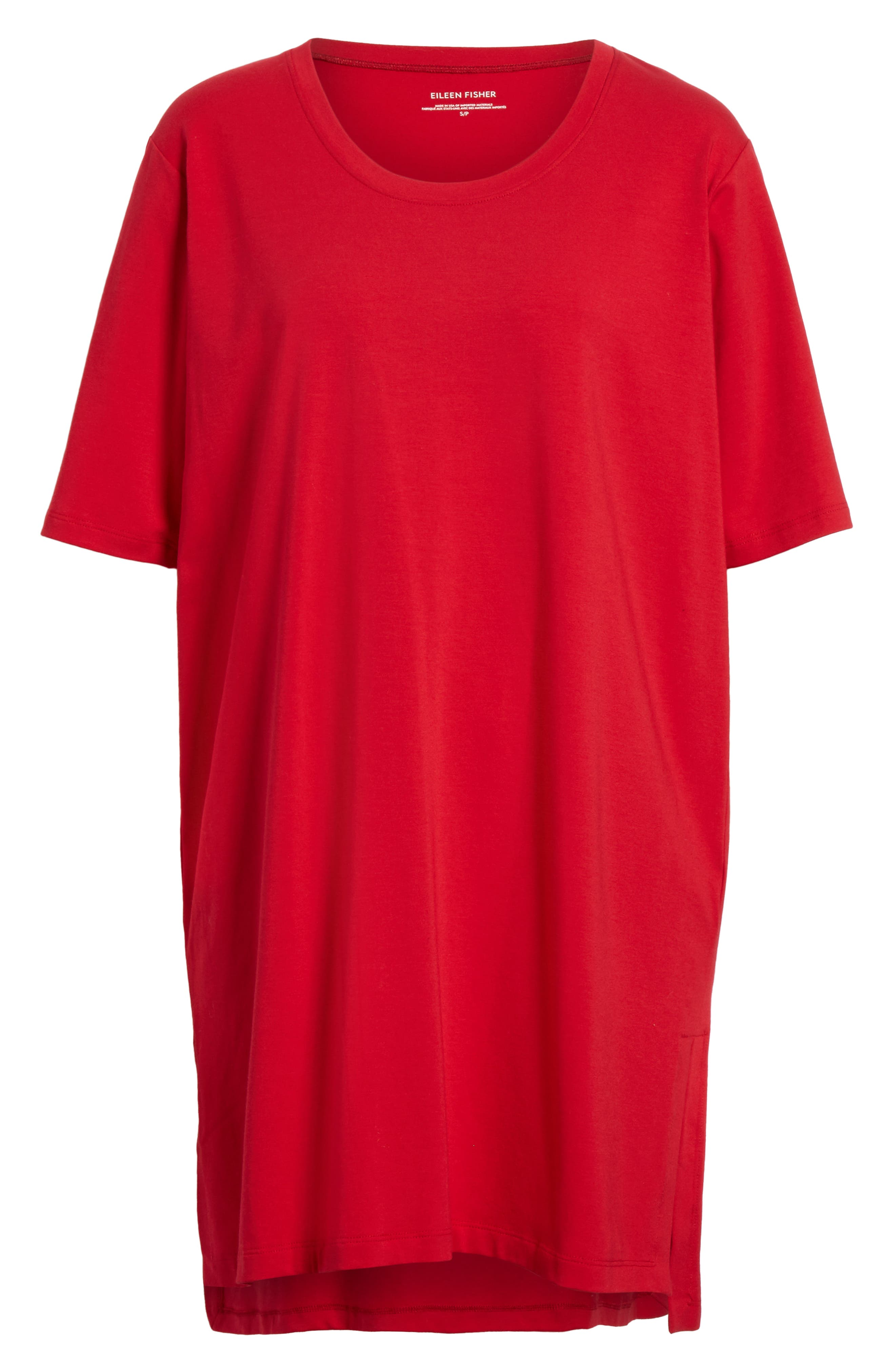 Stretch Organic Cotton Jersey Tunic,                             Alternate thumbnail 34, color,