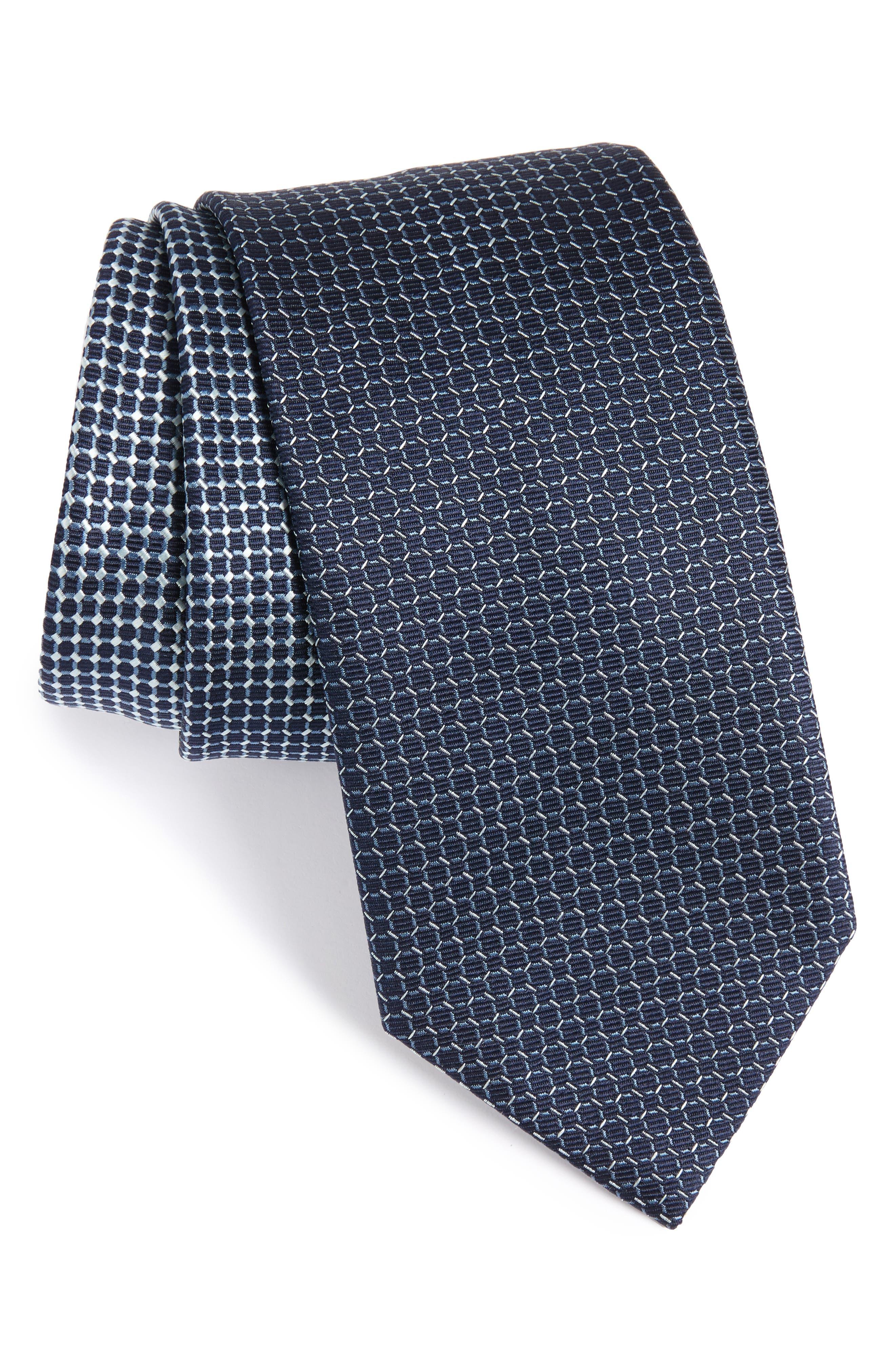 Geometric Silk Tie,                         Main,                         color, 432
