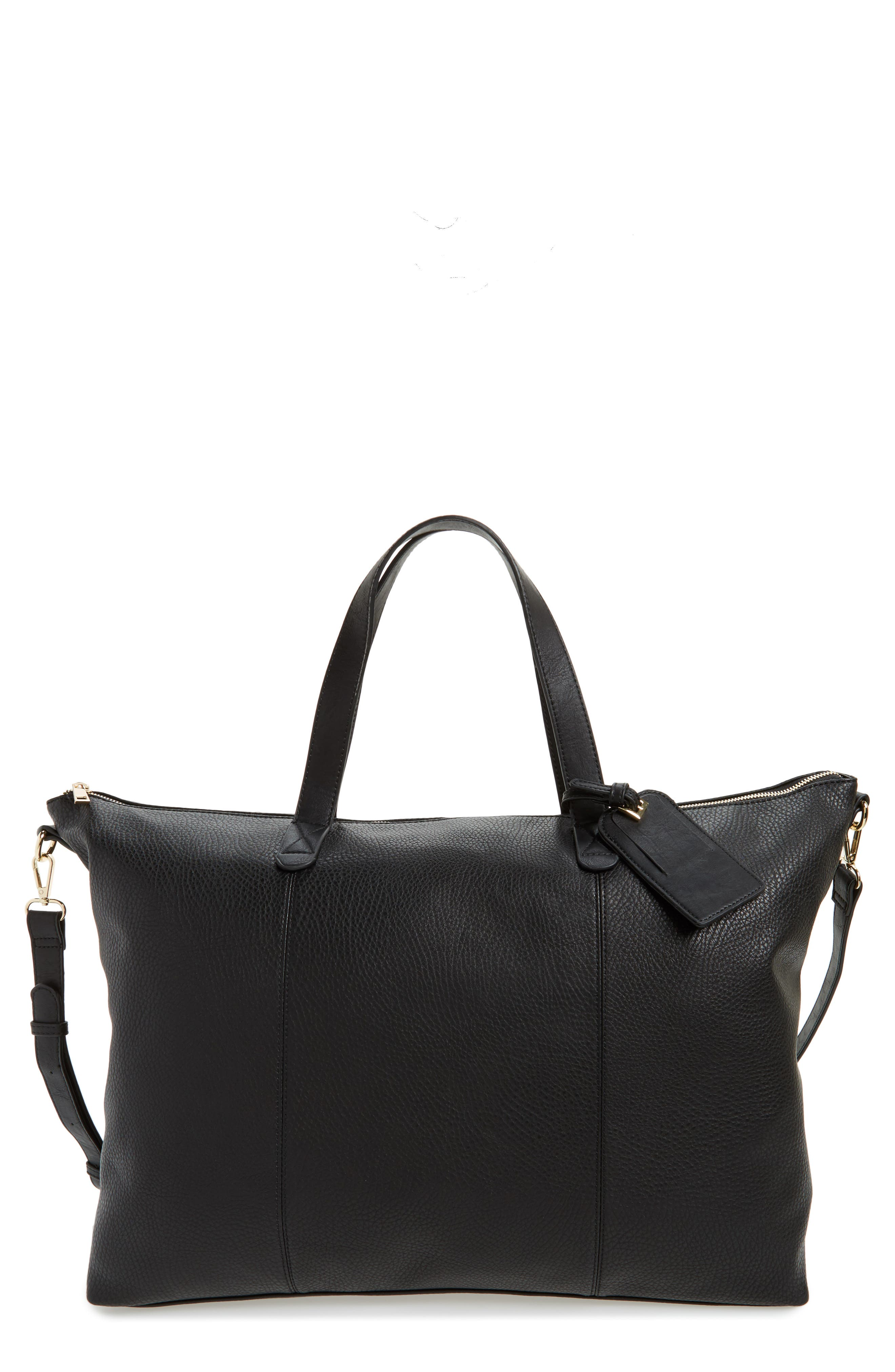 Candice Oversize Travel Tote,                             Main thumbnail 1, color,                             NEW BLACK