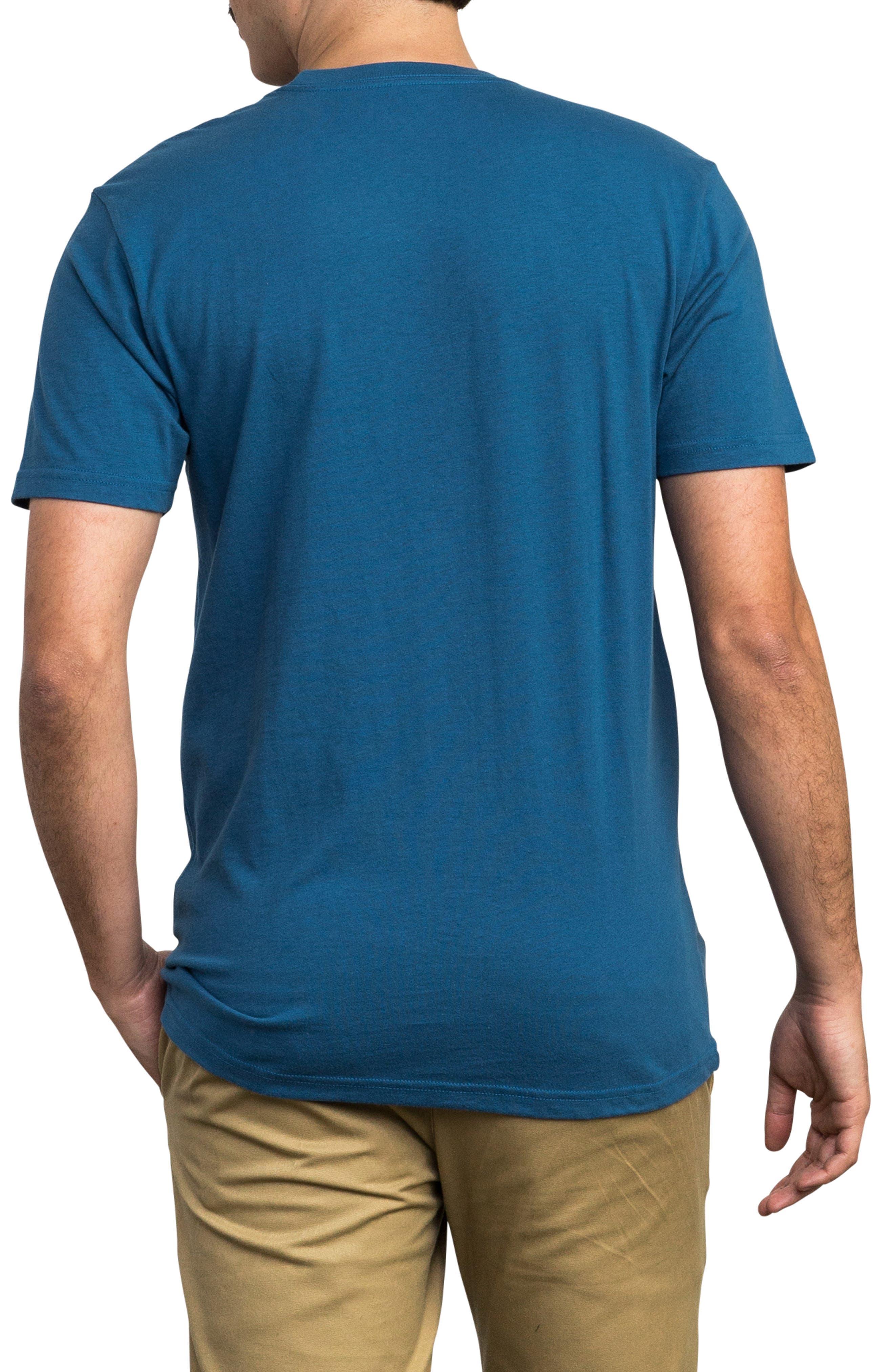 Copy Box Logo T-Shirt,                             Alternate thumbnail 2, color,                             BRIGHT BLUE