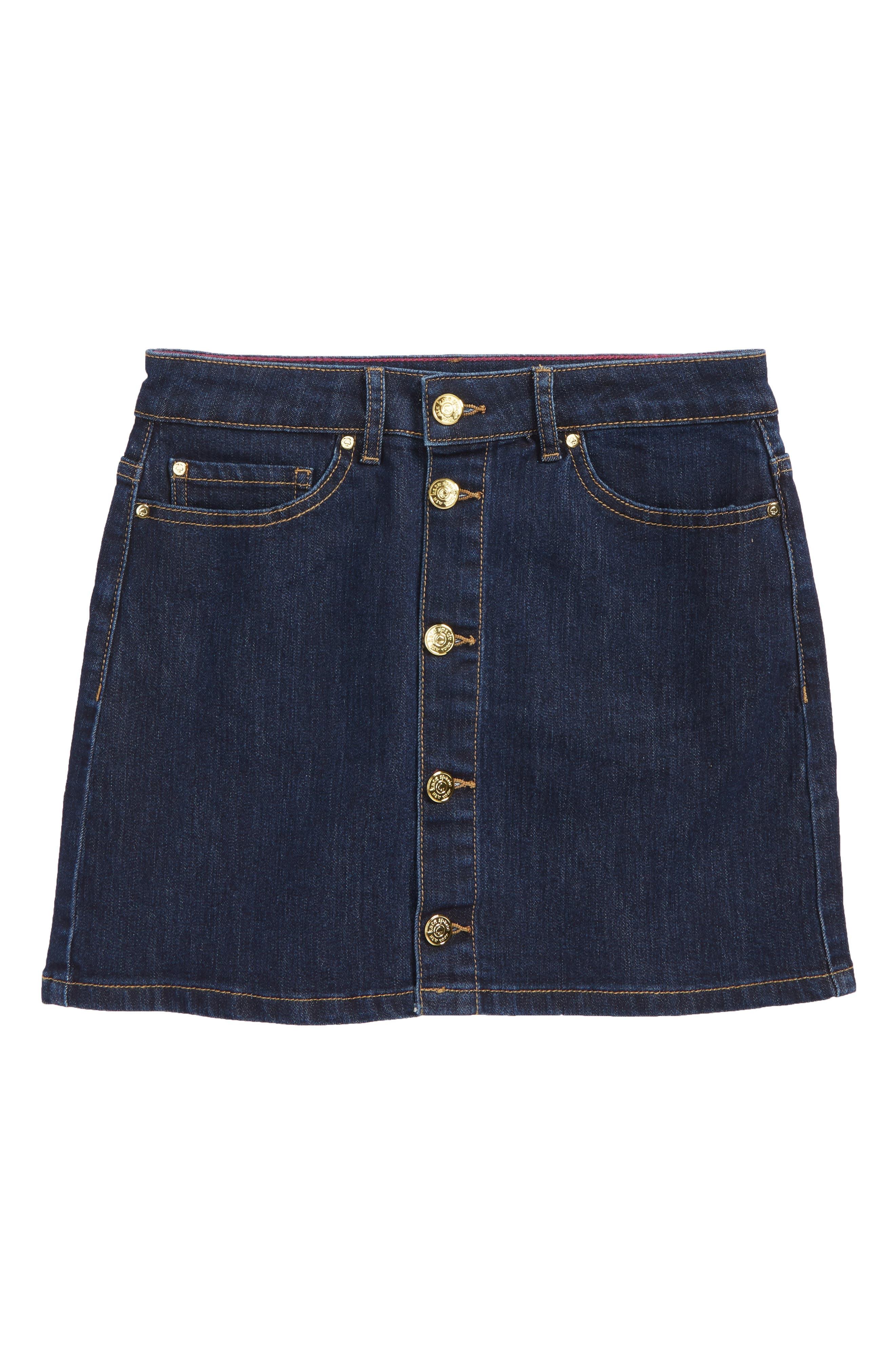 denim skirt,                             Main thumbnail 1, color,                             402