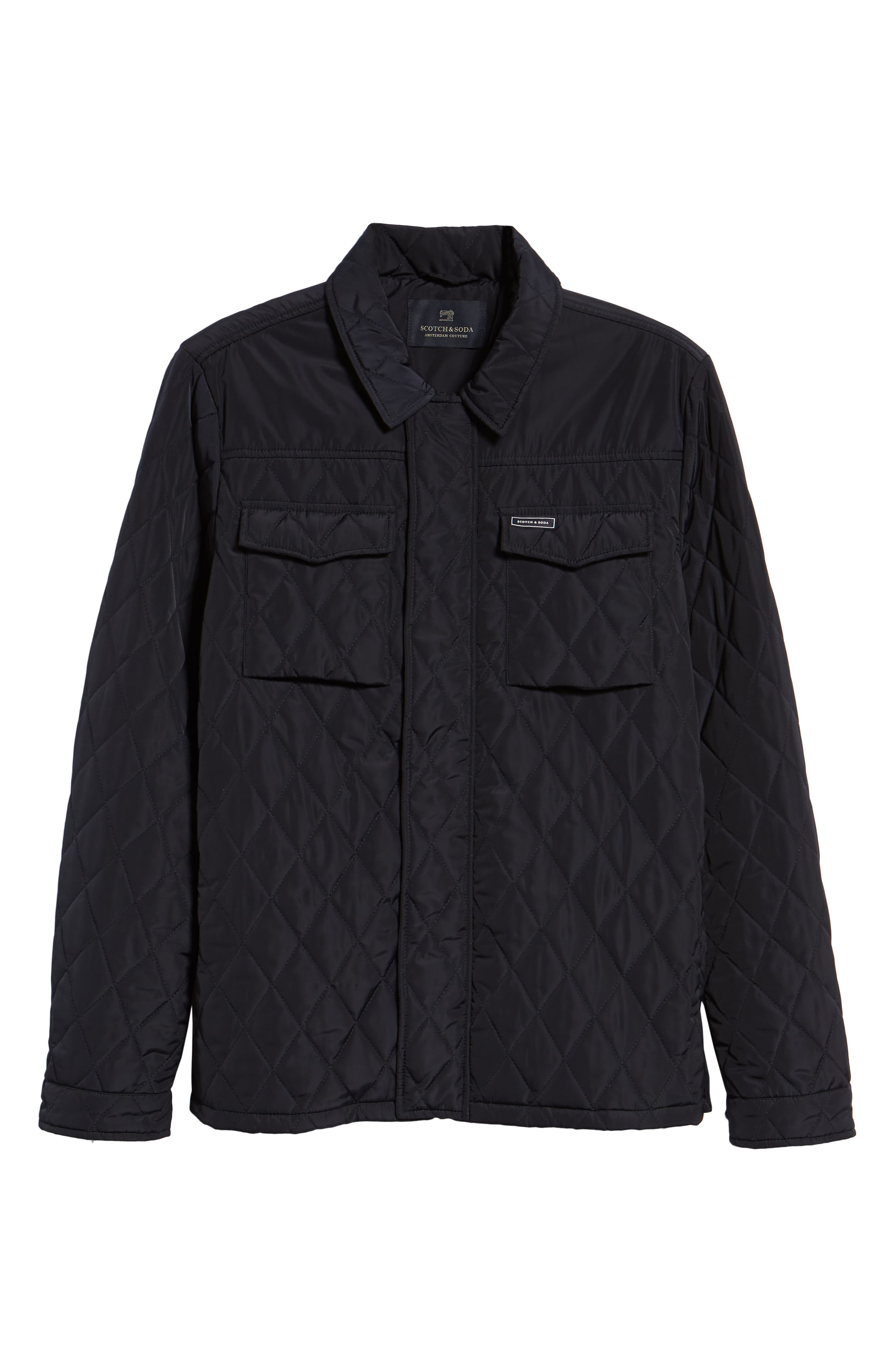 Quilted Shirt Jacket,                             Alternate thumbnail 5, color,                             NIGHT