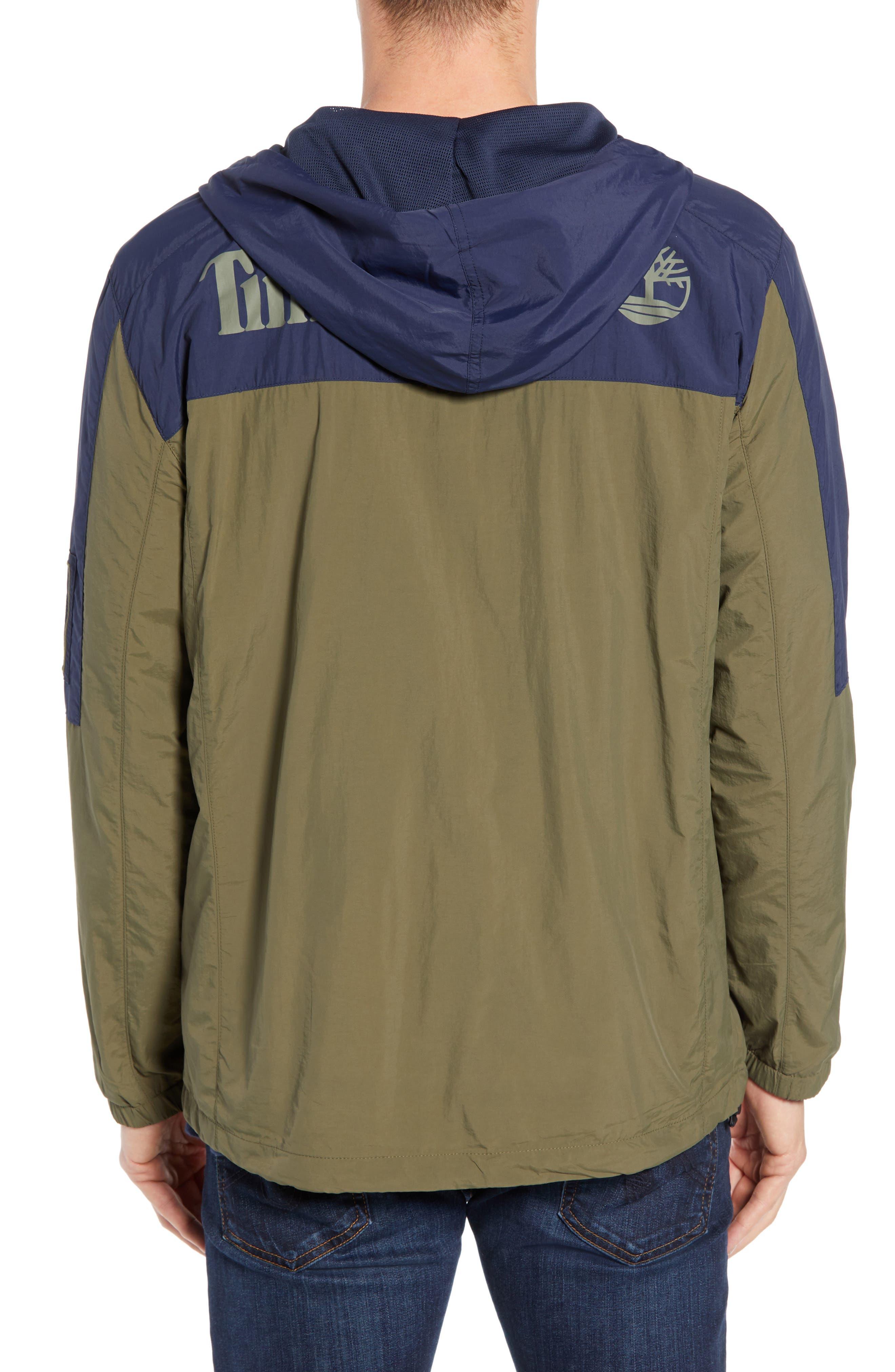 Windbreaker Hooded Jacket,                             Alternate thumbnail 2, color,                             GRAPE LEAF/ BLACK IRIS