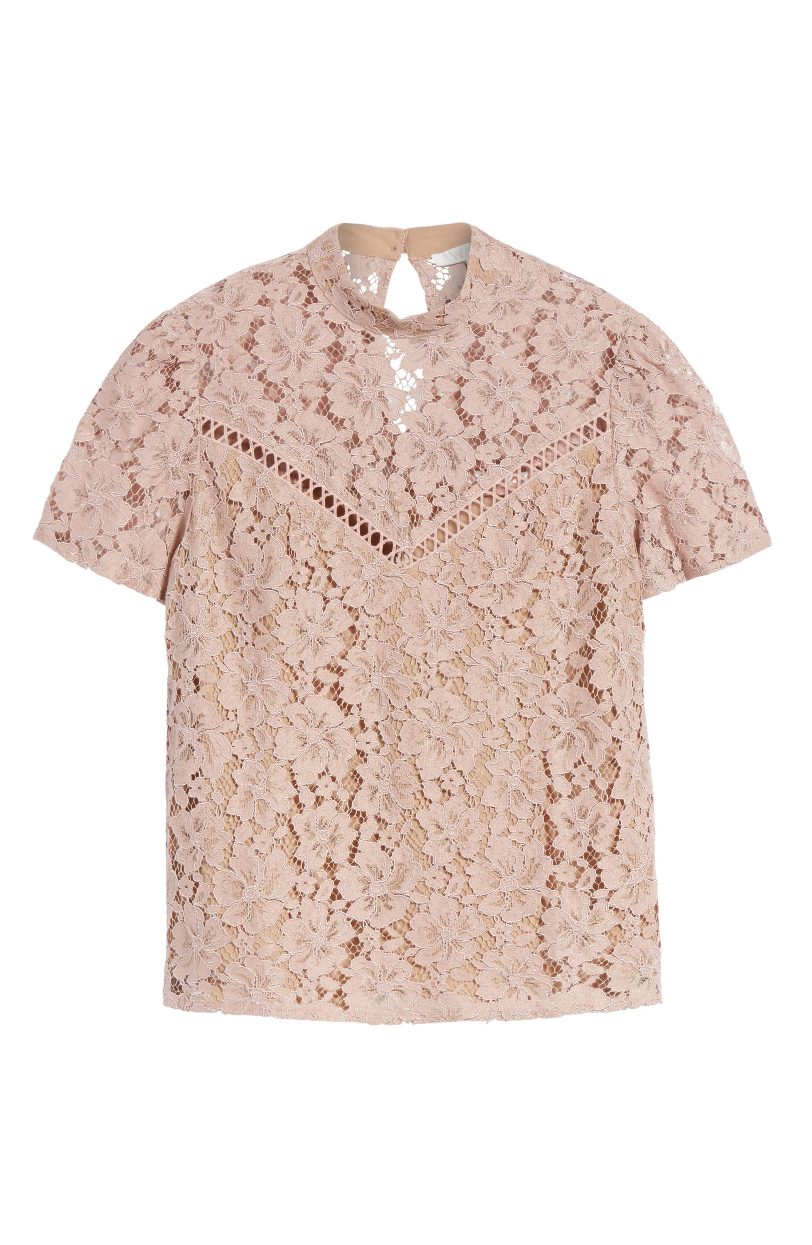Greyson Lace Top,                             Alternate thumbnail 6, color,                             650