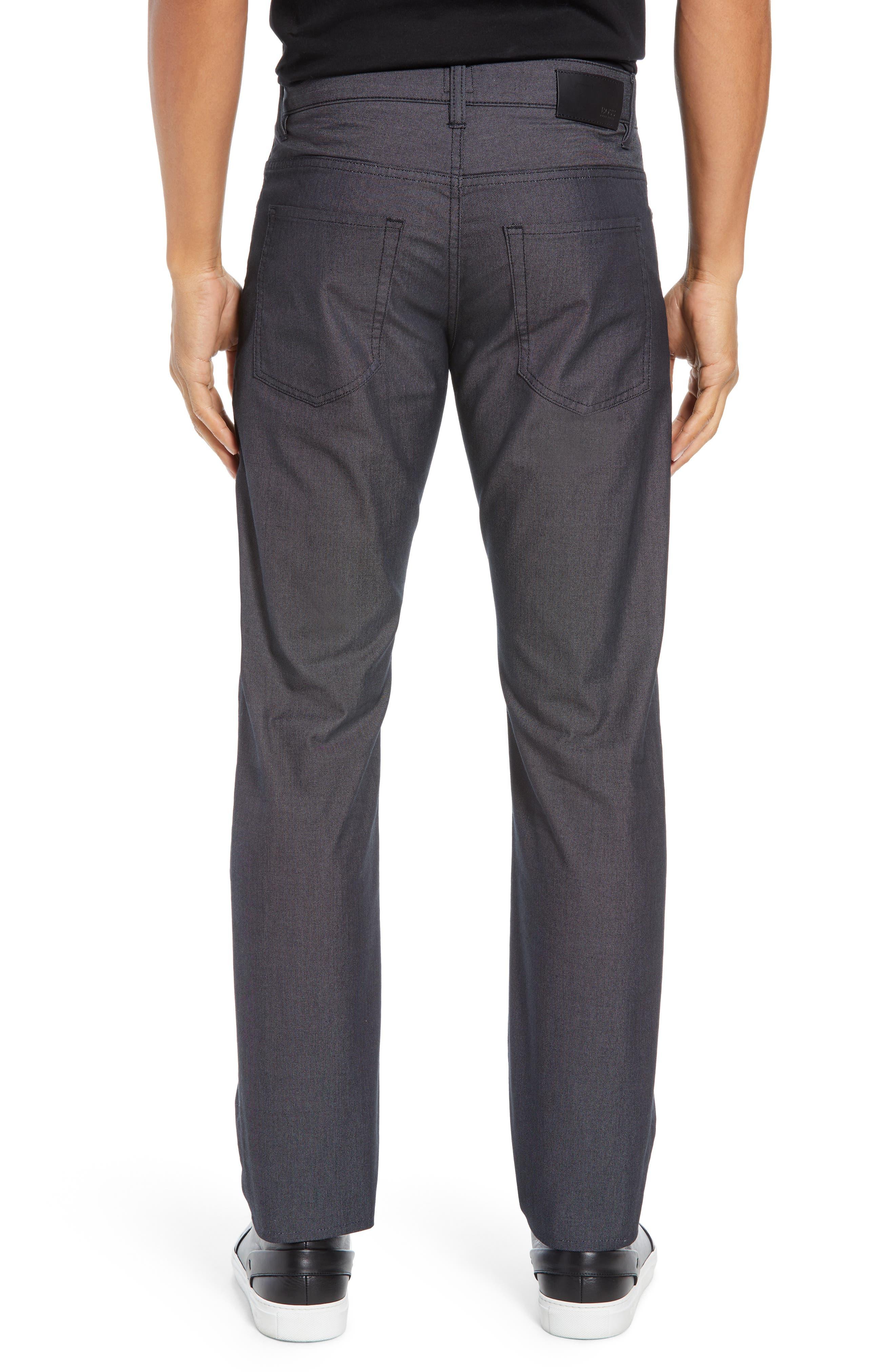 Delaware Slim Fit Pin Dot Pants,                             Alternate thumbnail 2, color,                             BLACK