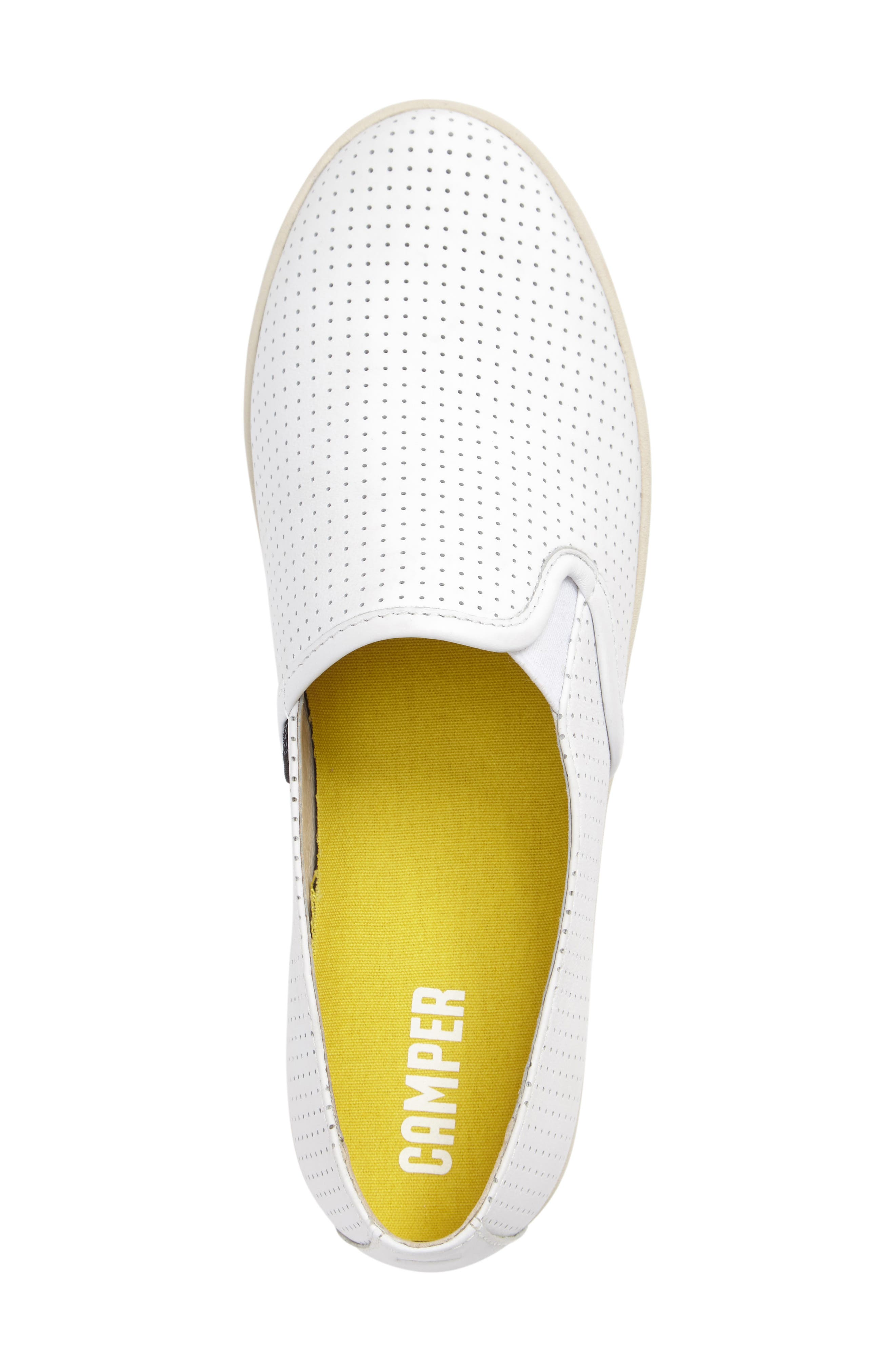 Uno Perforated Slip-On Sneaker,                             Alternate thumbnail 3, color,                             100