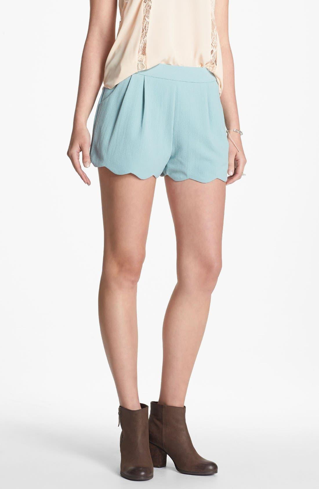 Scalloped Lace Shorts,                             Main thumbnail 1, color,                             400