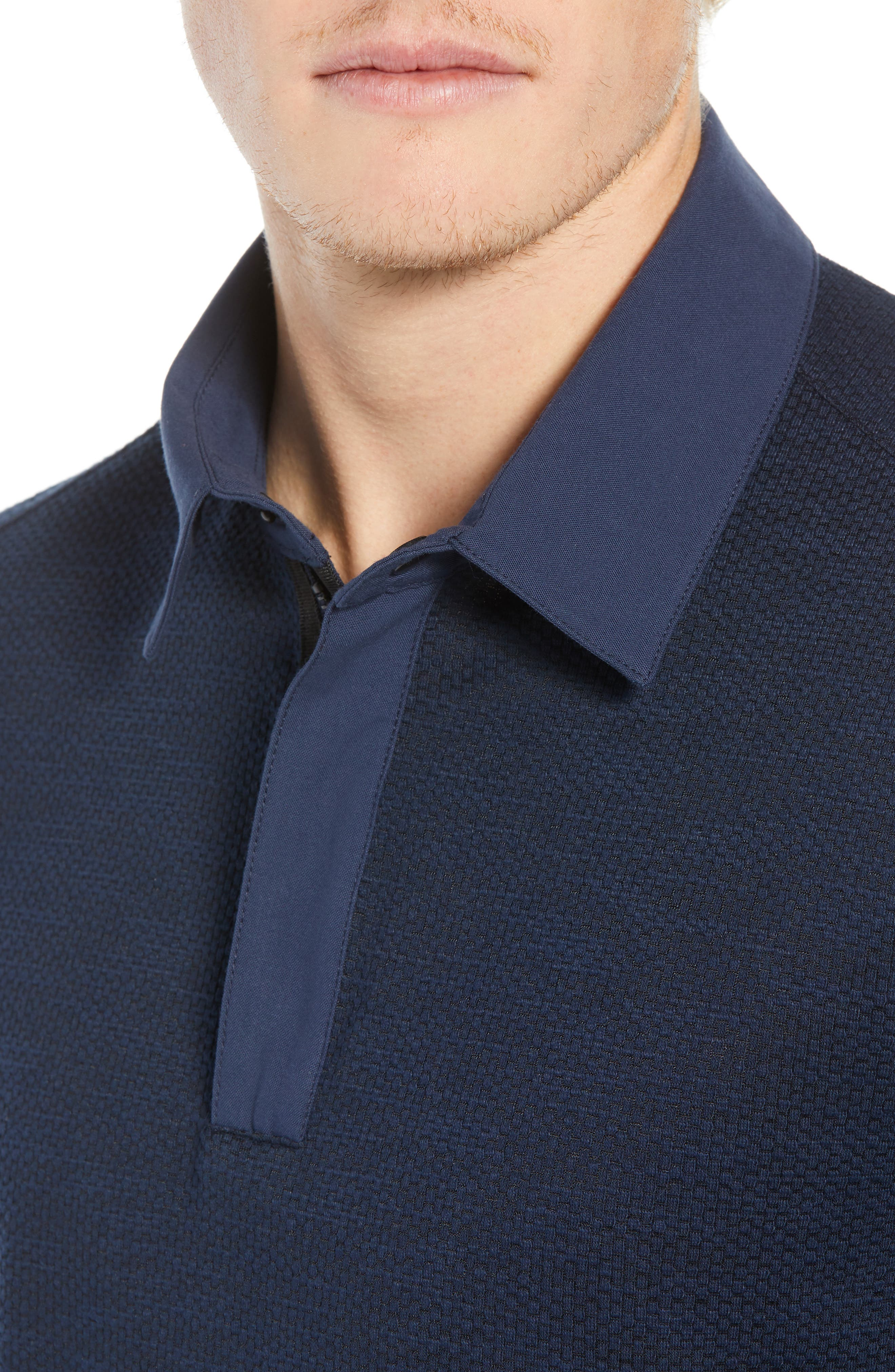 Echo Slim Fit Polo,                             Alternate thumbnail 4, color,                             NAVY