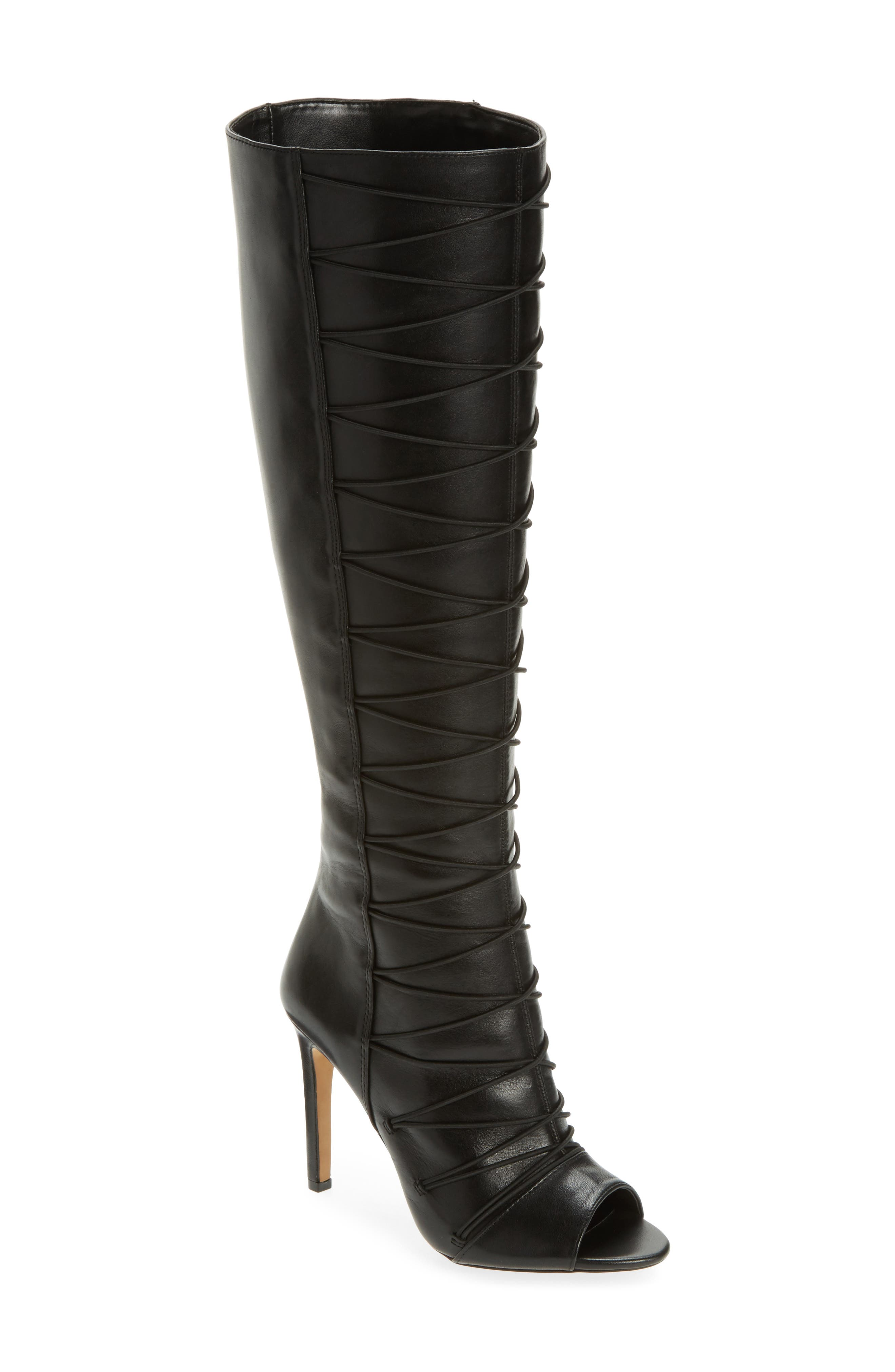 Kentra Strappy Tall Boot,                         Main,                         color, 001