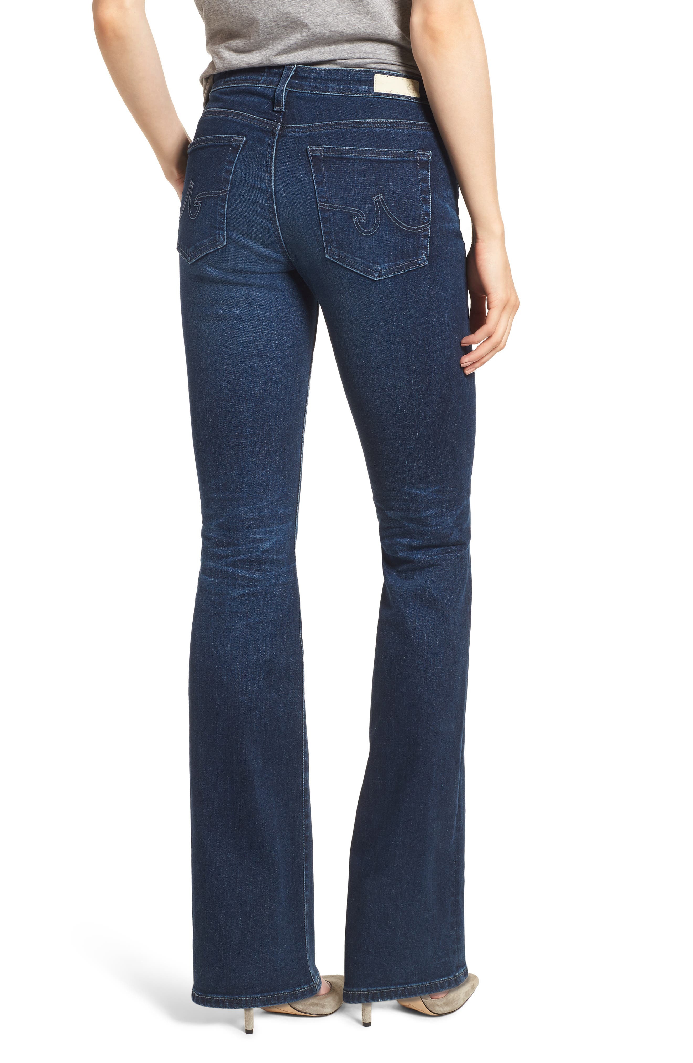 Angel Flare Jeans,                             Alternate thumbnail 2, color,                             04 YEARS DEEP WILLOWS
