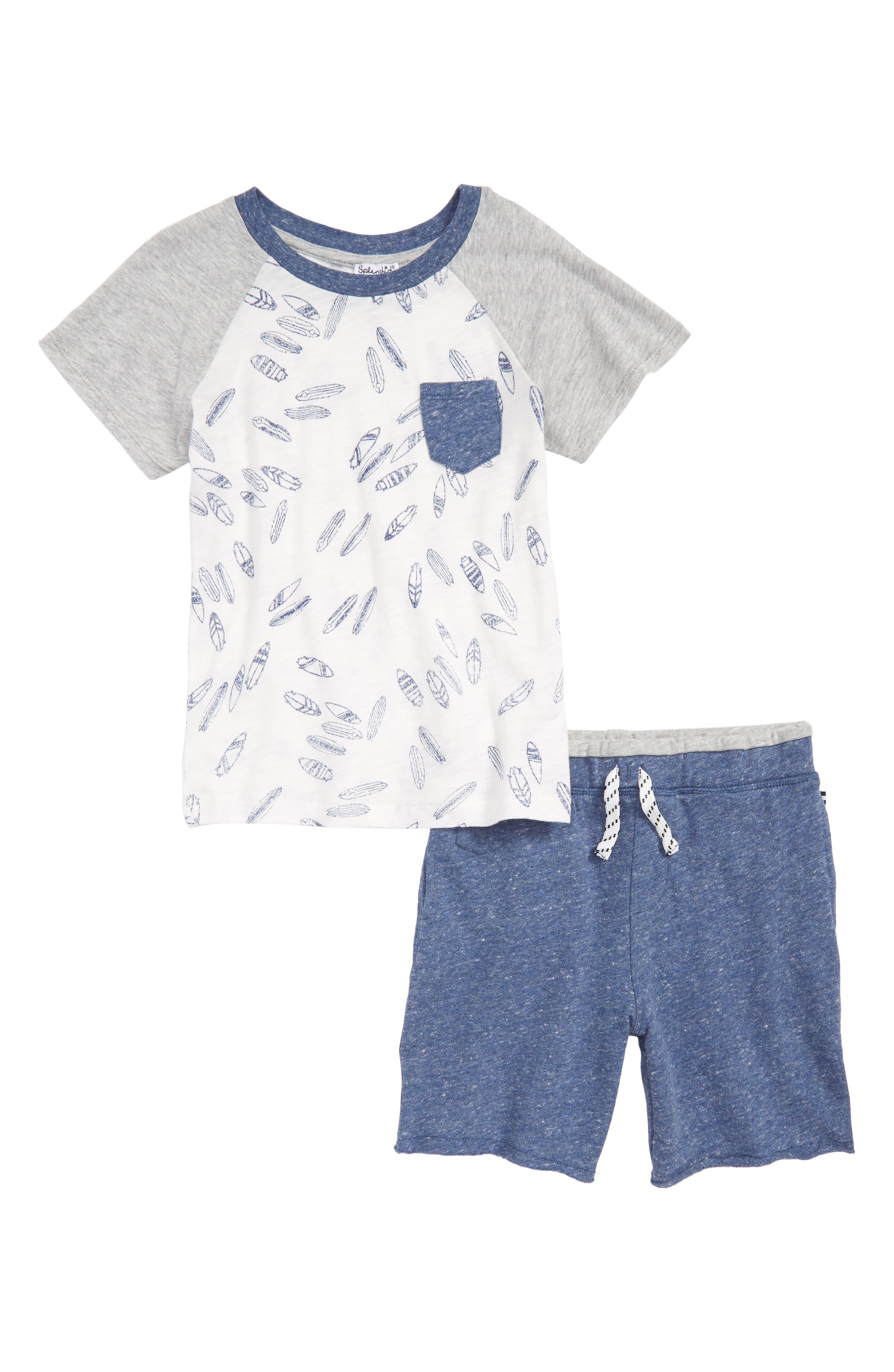 Surfboard T-Shirt & Shorts Set,                         Main,                         color, 051