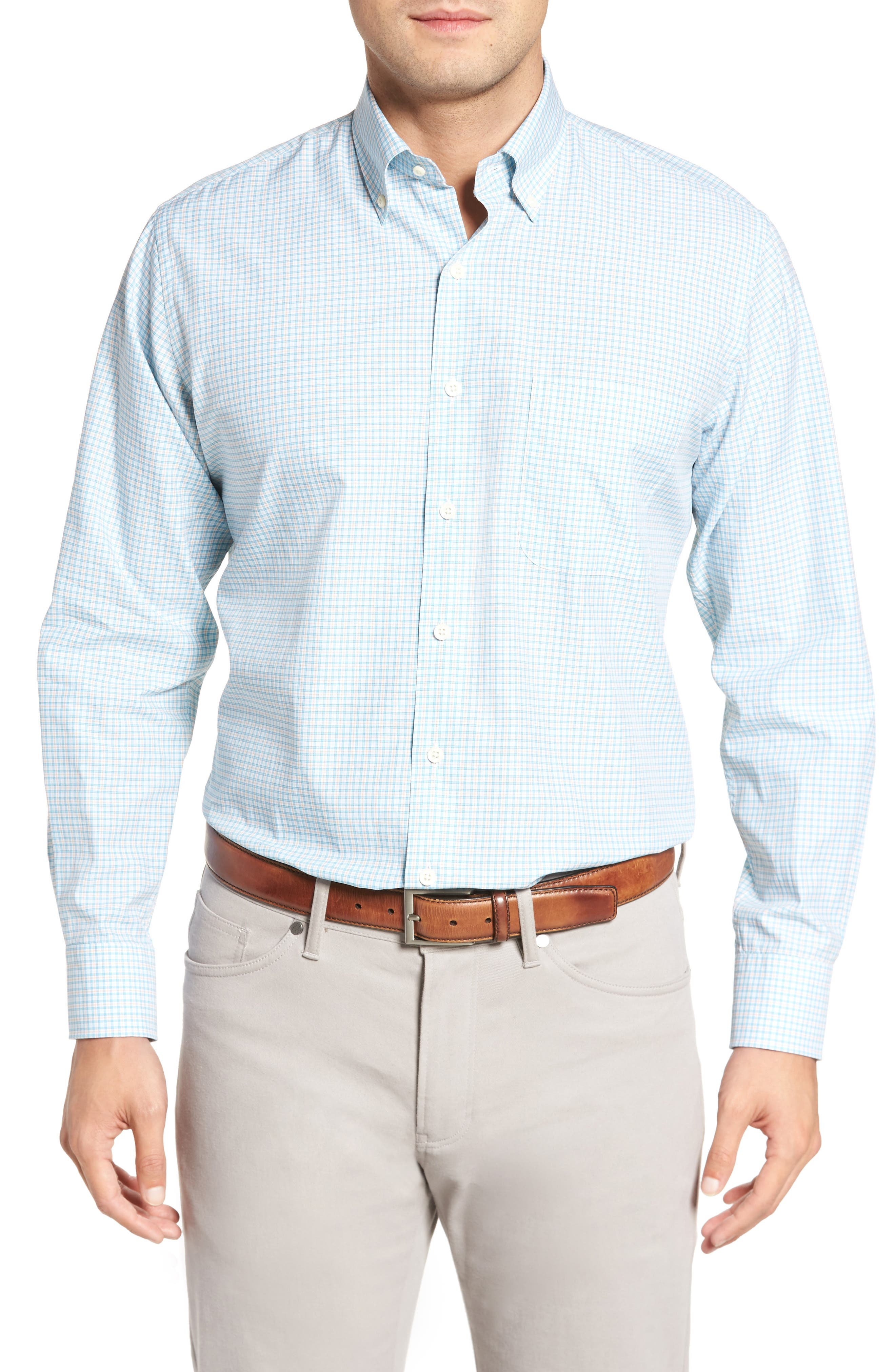 Crown Finish Regular Fit Check Sport Shirt,                         Main,                         color,
