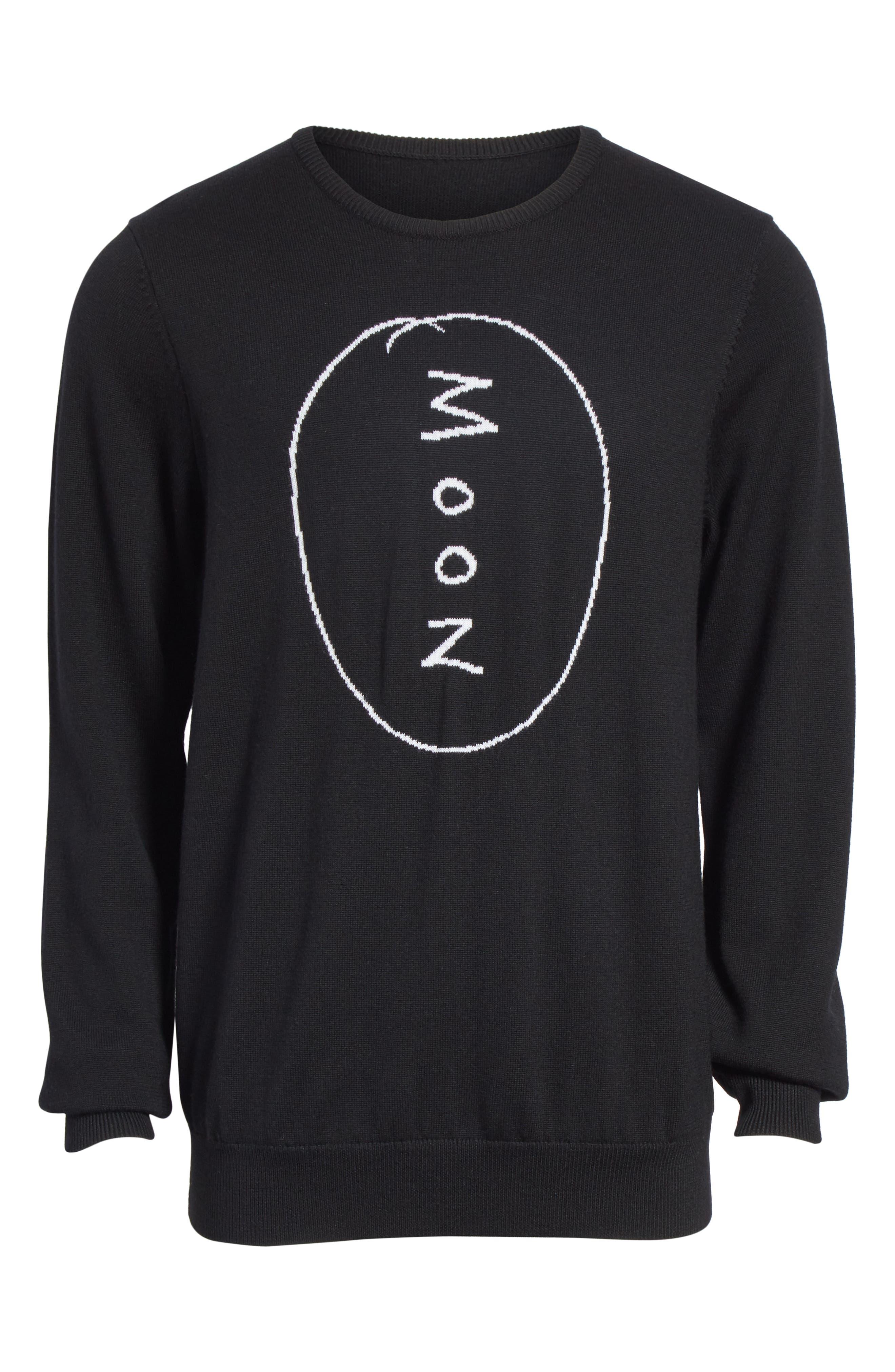 Moon Merino Wool Sweater,                             Alternate thumbnail 6, color,                             001