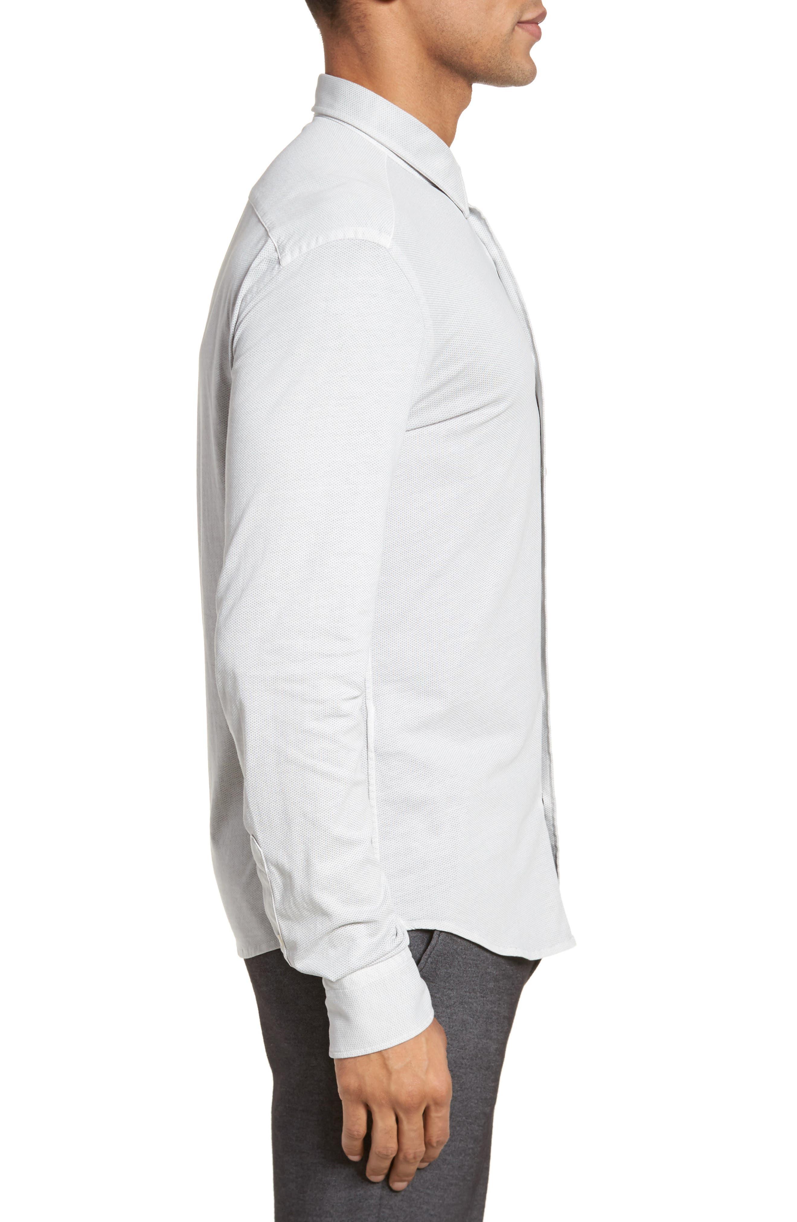Reid Slim Fit Solid Sport Shirt,                             Alternate thumbnail 3, color,                             071