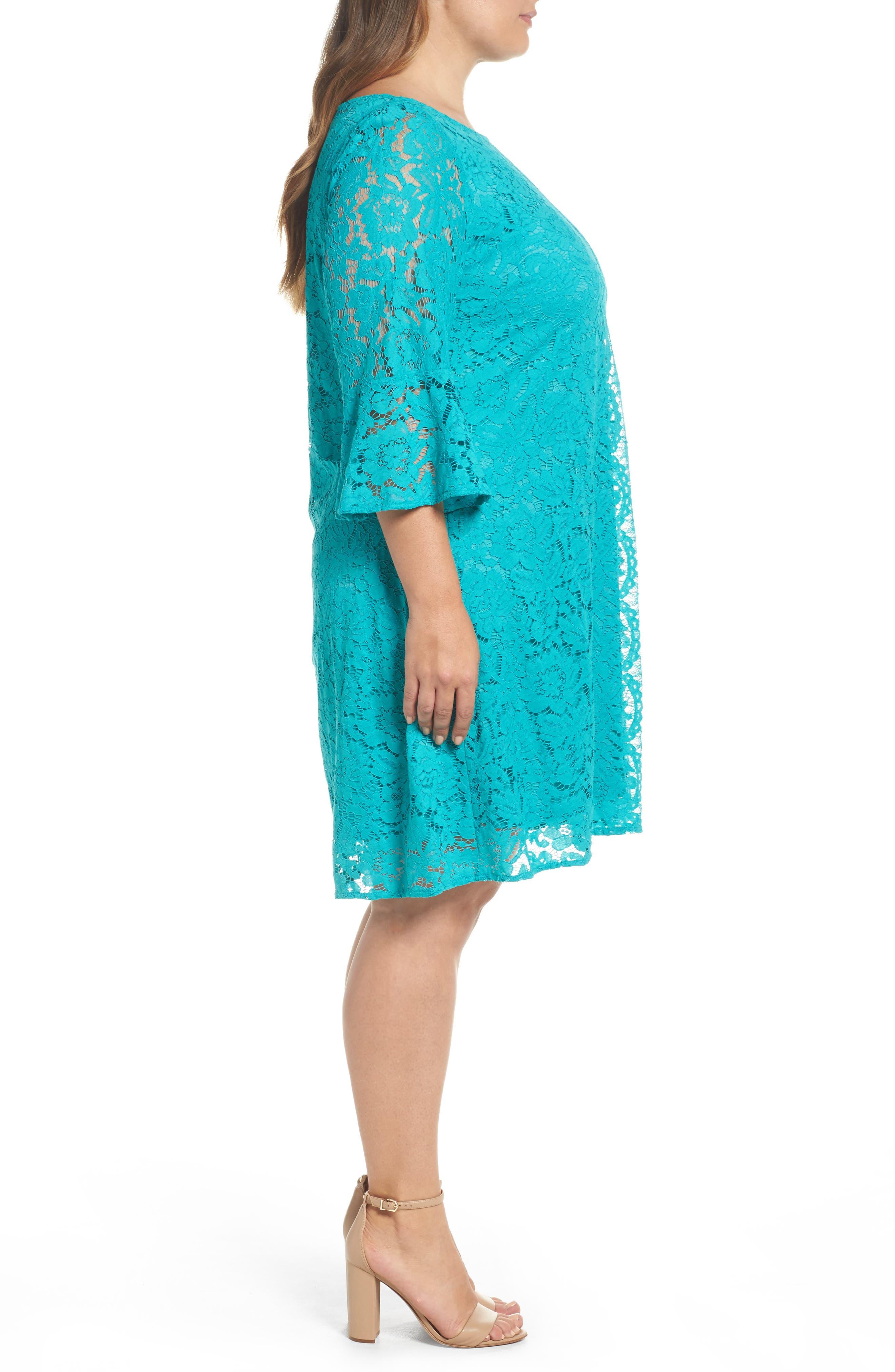 Lace A-Line Dress,                             Alternate thumbnail 6, color,