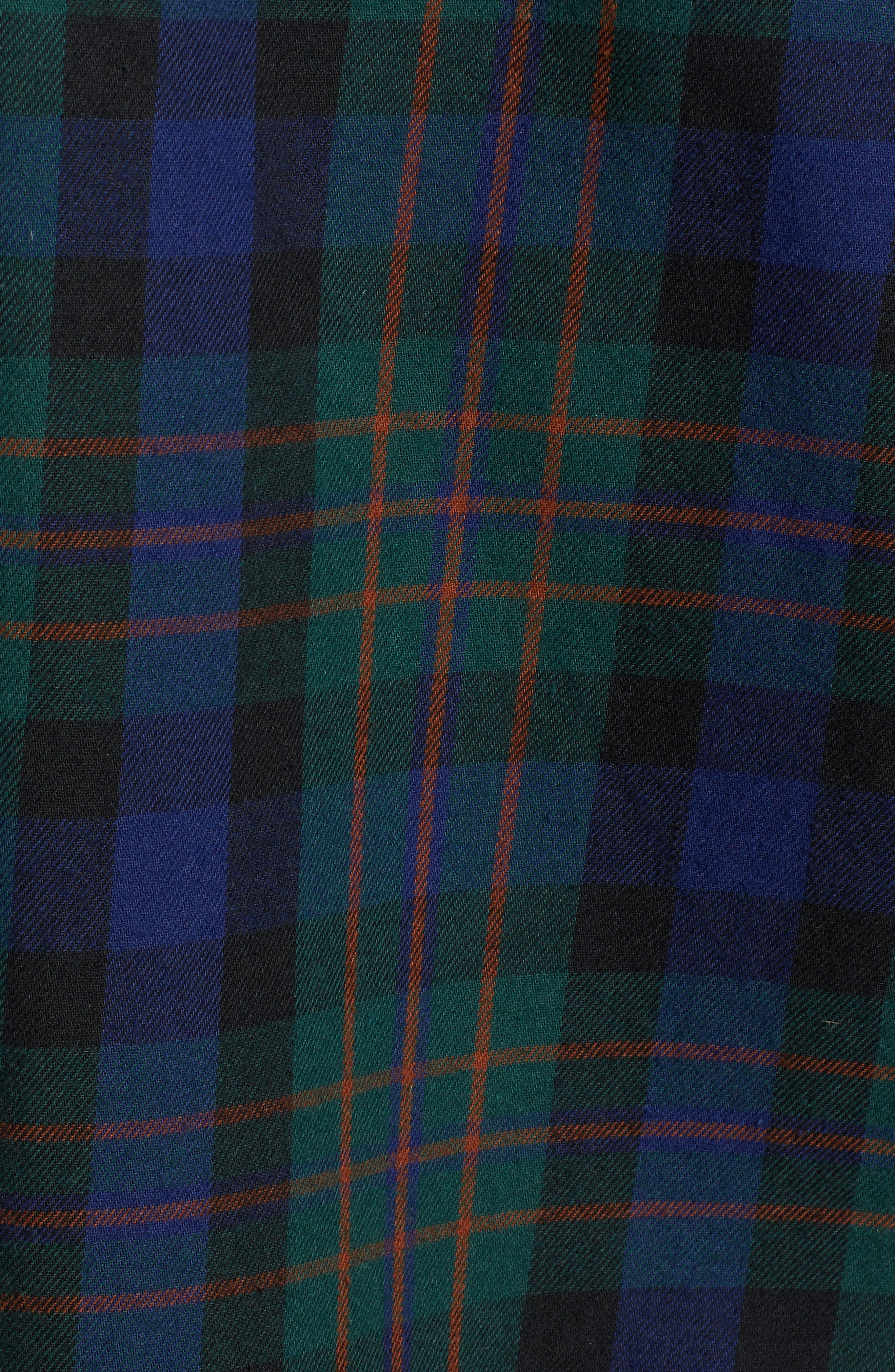 Flanigan Woven Shirt,                             Alternate thumbnail 5, color,                             BOTTLE GREEN