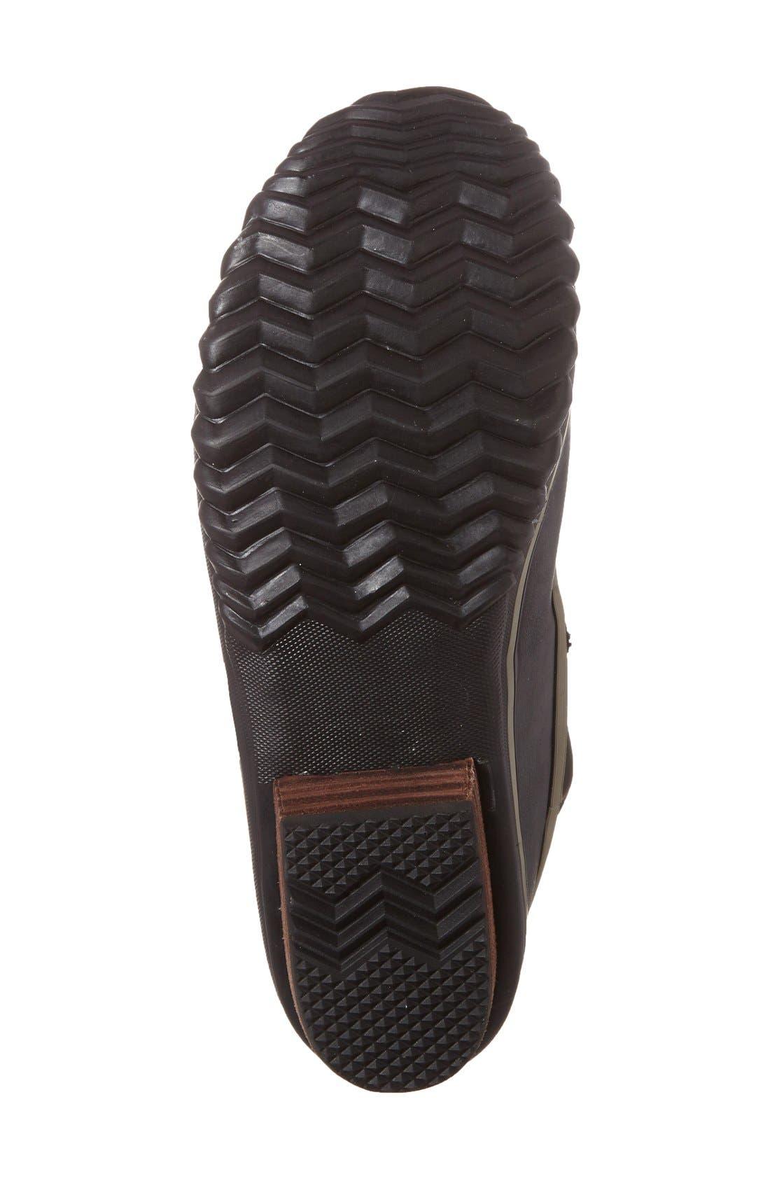 SOREL,                             Slimpack II Waterproof Boot,                             Alternate thumbnail 4, color,                             BLACK