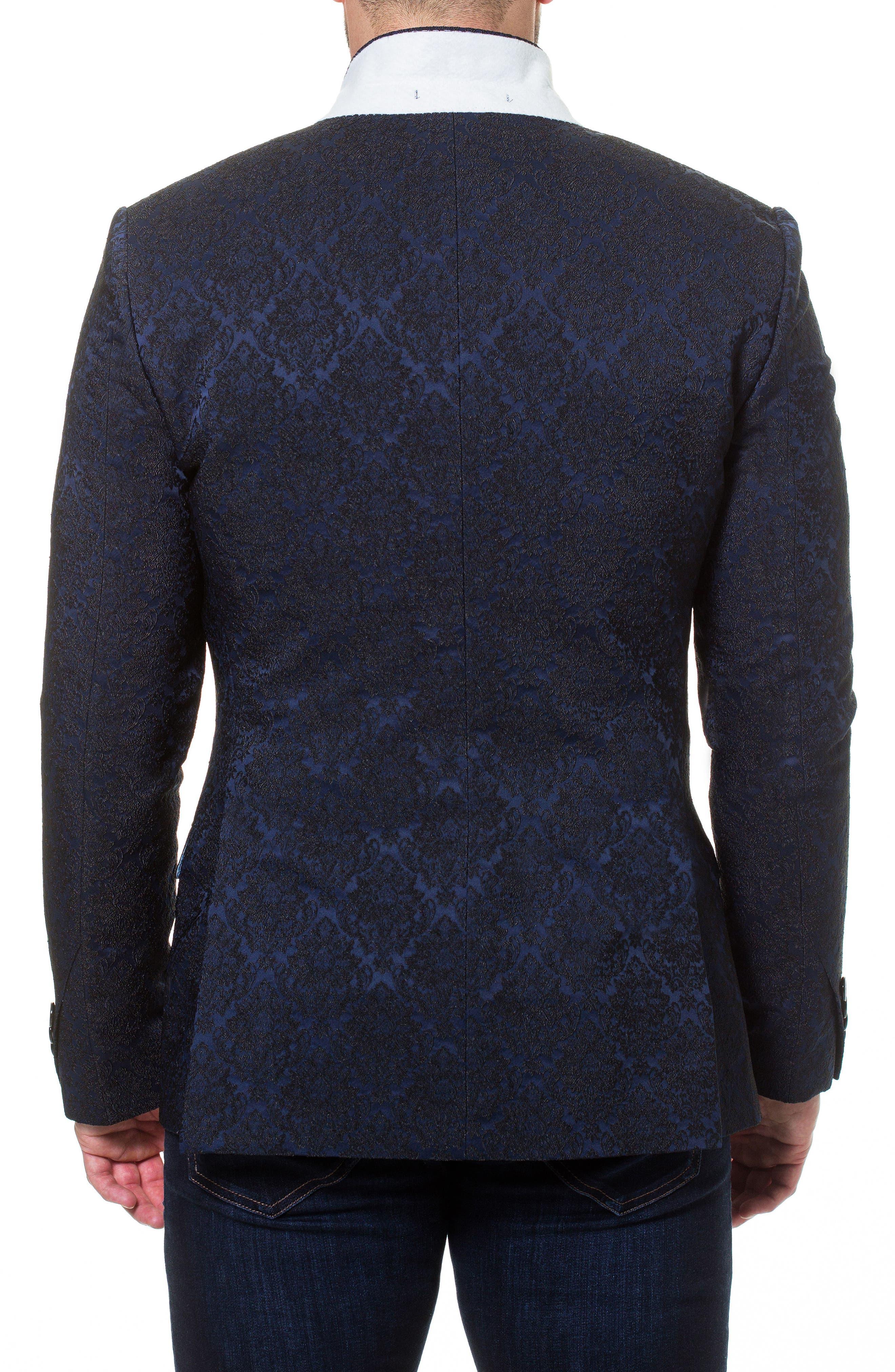 Descartes Jacquard Linen & Cotton Blend Sport Coat,                             Alternate thumbnail 5, color,                             420