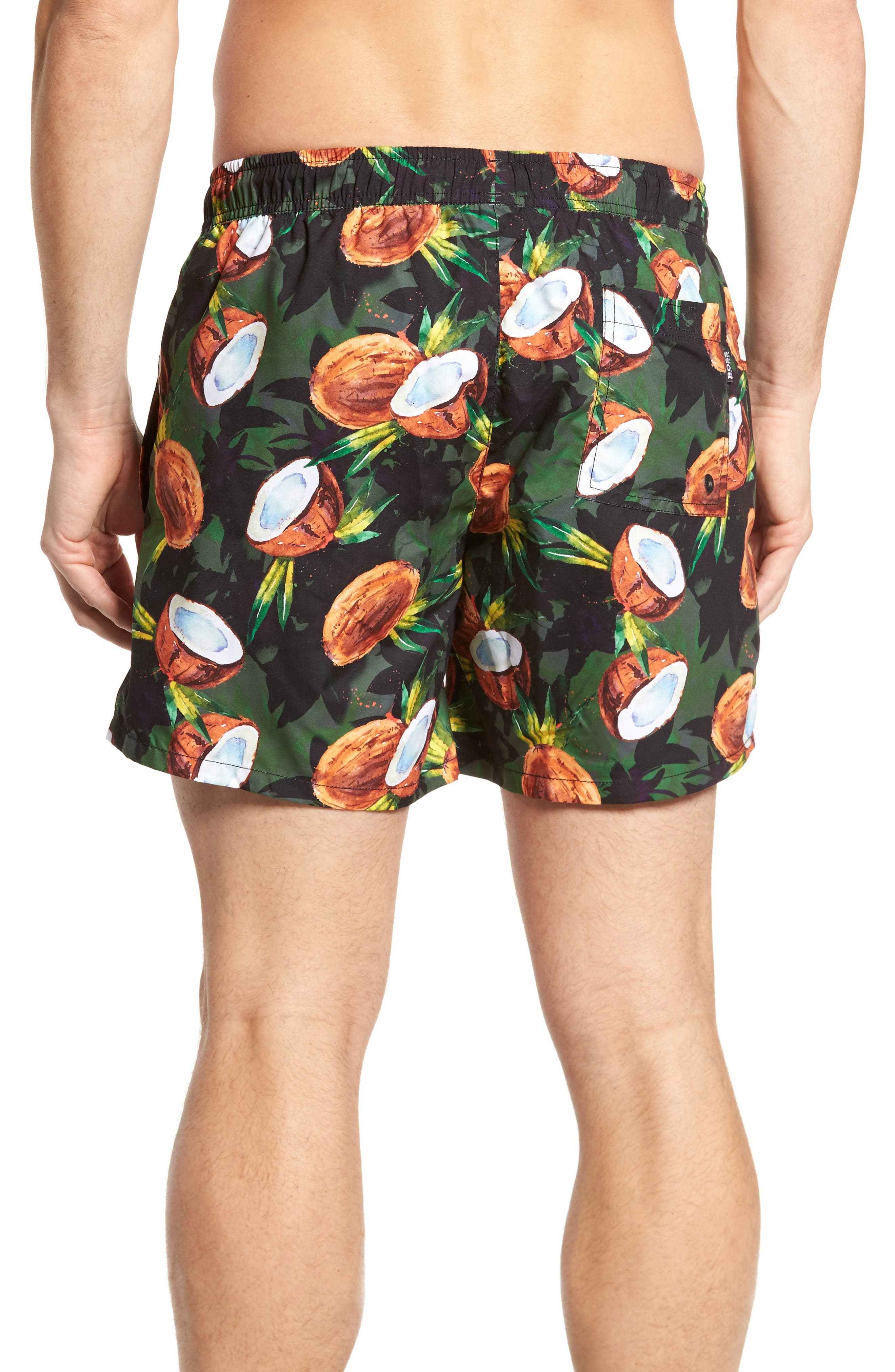 BOSS,                             Threadfin Coconut Swim Trunks,                             Alternate thumbnail 2, color,                             363
