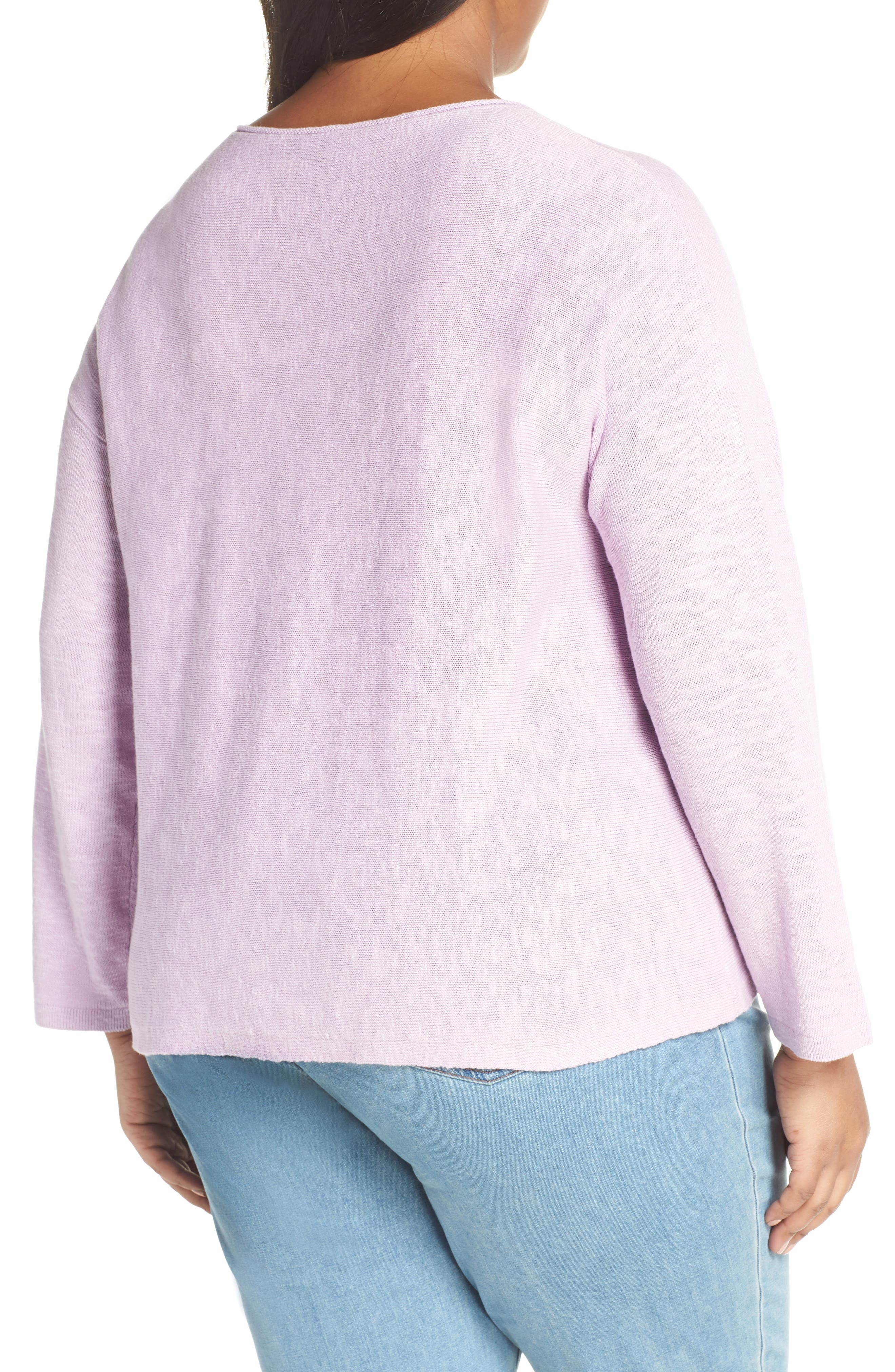 Round Neck Sweater,                             Alternate thumbnail 2, color,                             MALLOW