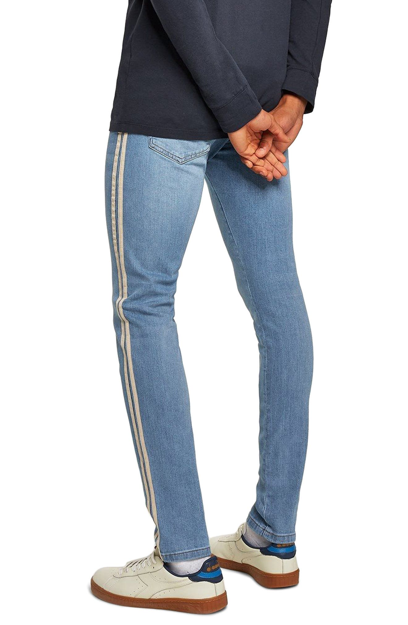 Tape Stretch Skinny Fit Jeans,                             Alternate thumbnail 2, color,                             BLUE
