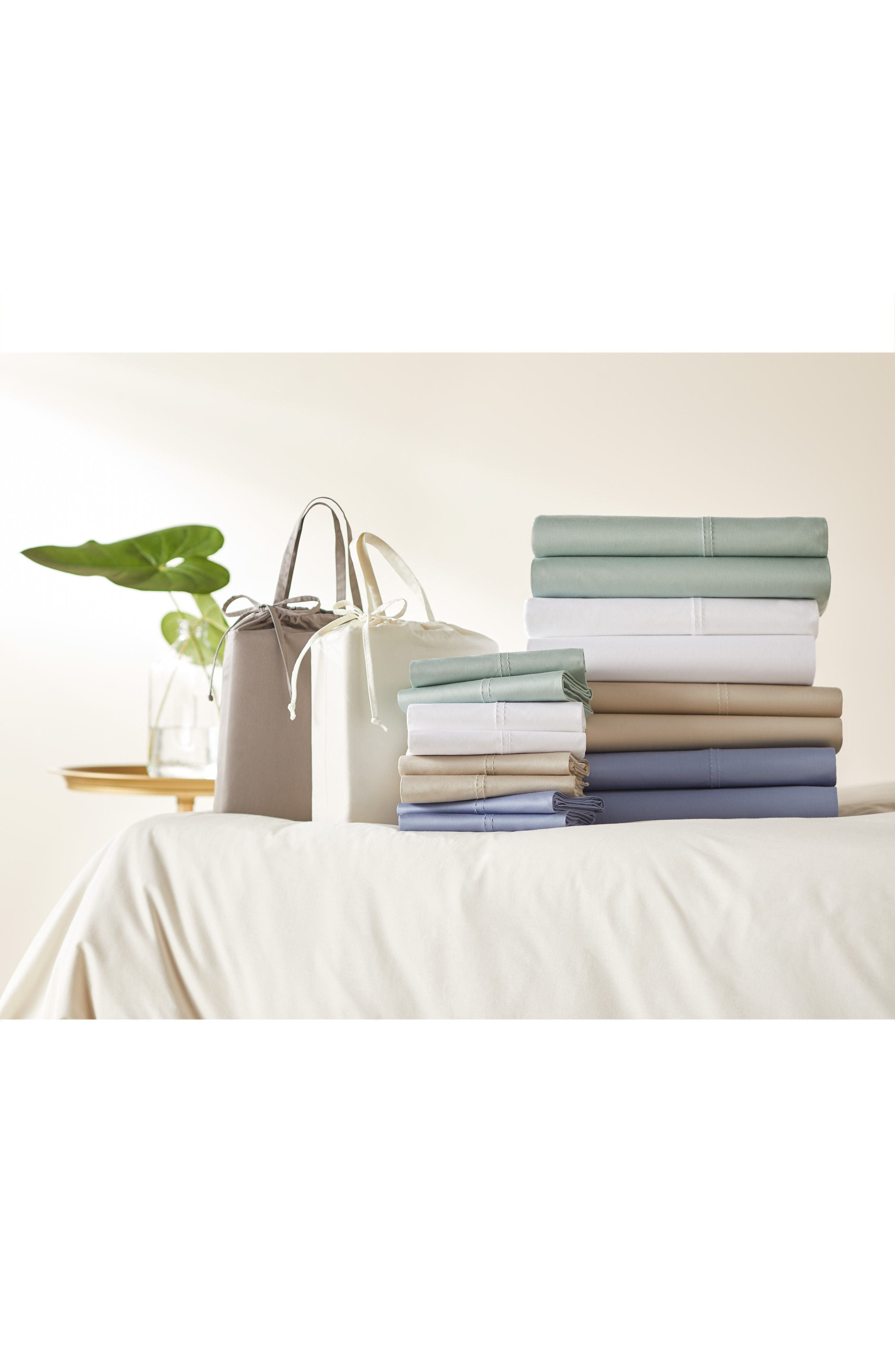 400 Thread Count Organic Cotton Sateen Sheet Set,                             Alternate thumbnail 53, color,