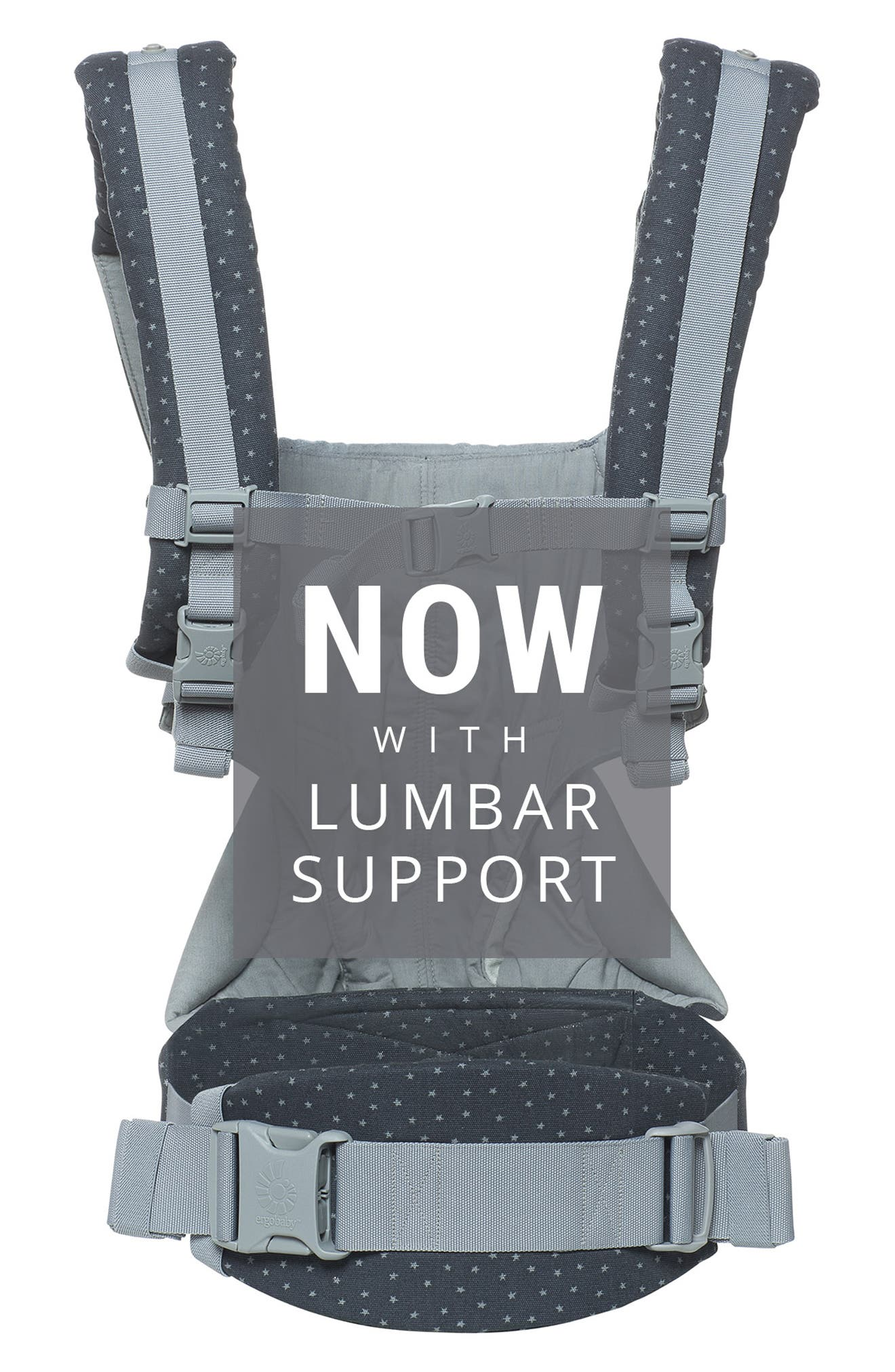 '360' Baby Carrier,                             Alternate thumbnail 4, color,                             GREY WITH STARS