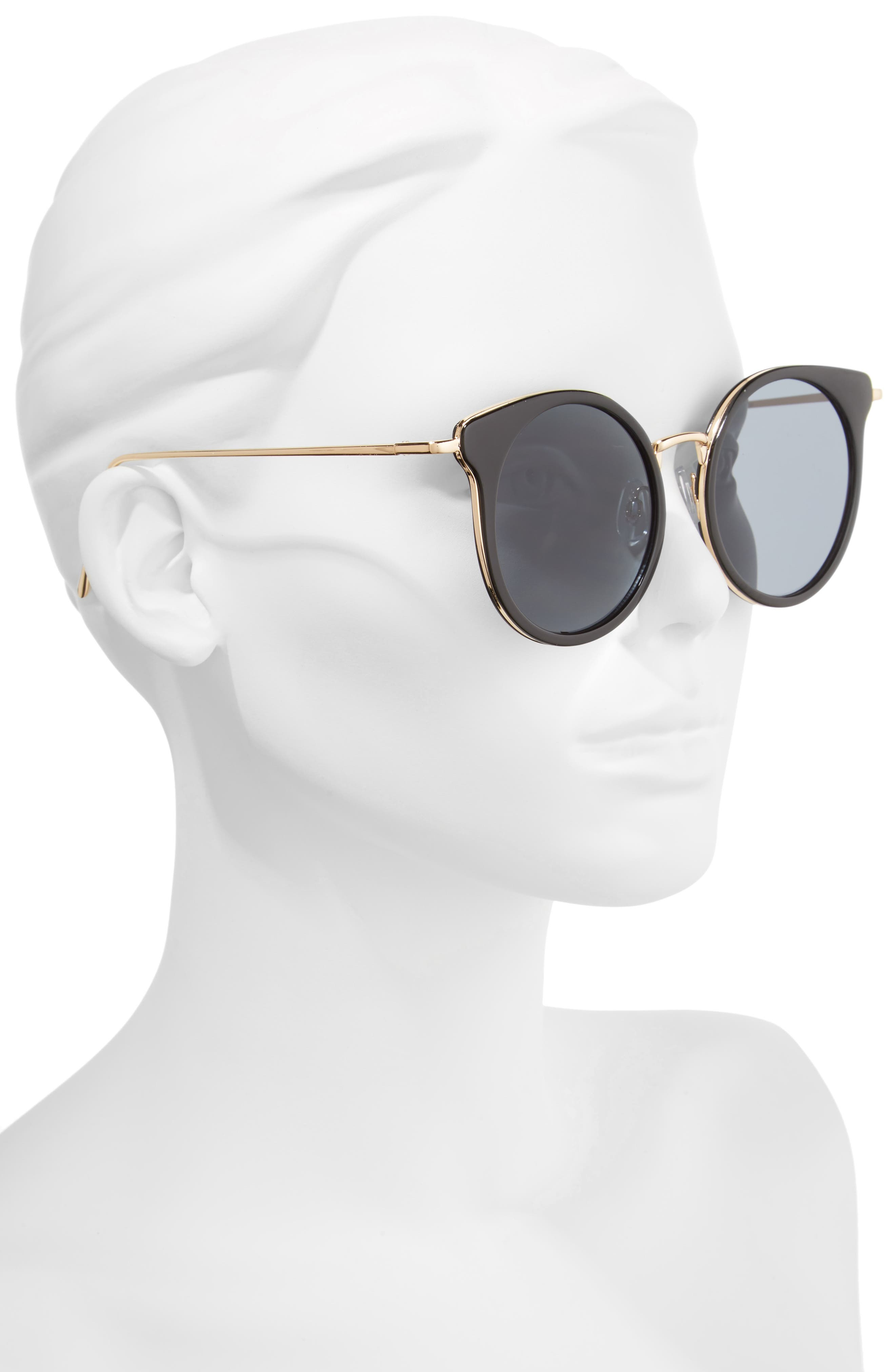Round Wing Sunglasses,                             Alternate thumbnail 2, color,                             710