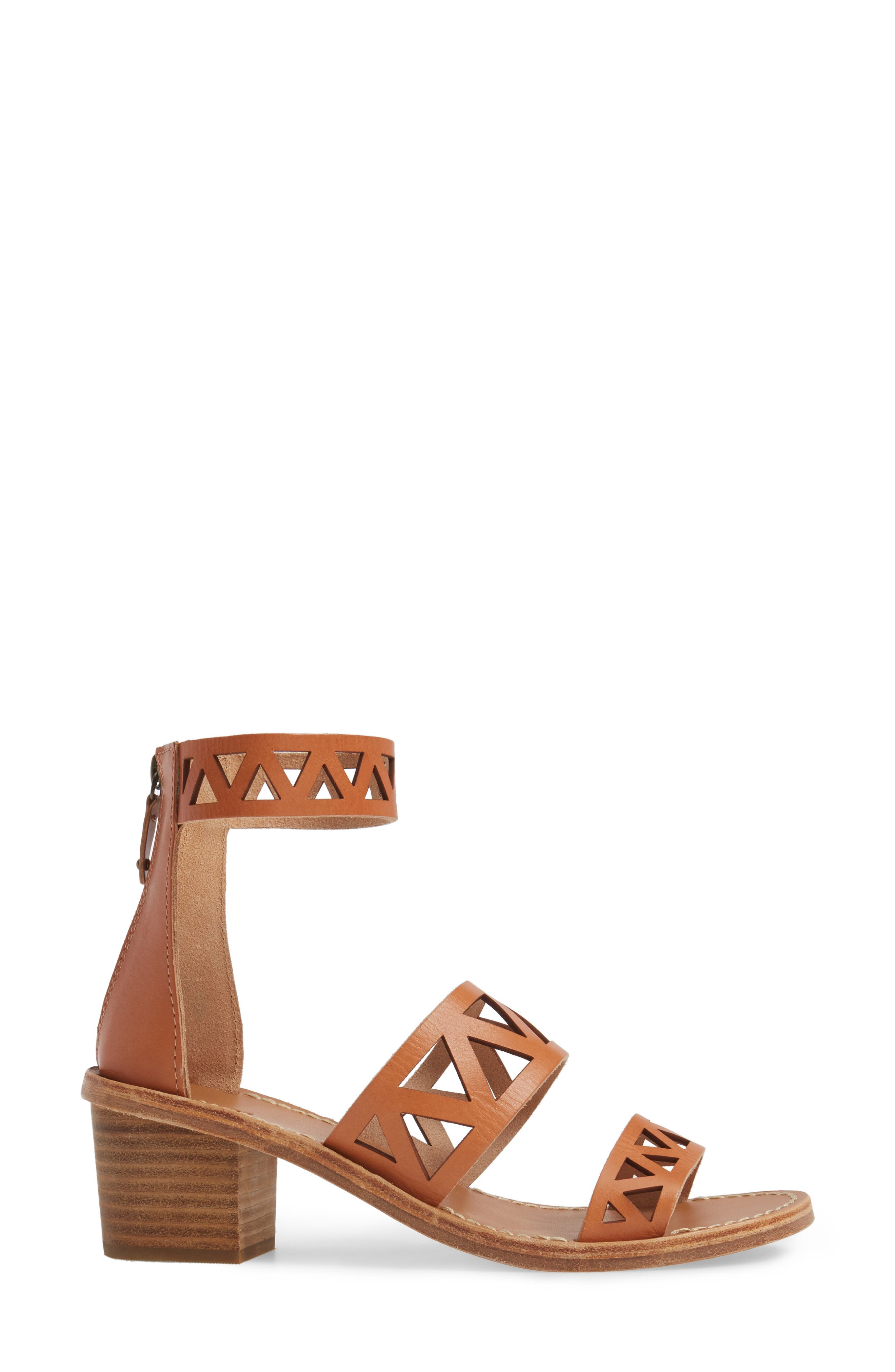 Perforated Ankle Strap Sandal,                             Alternate thumbnail 3, color,                             200
